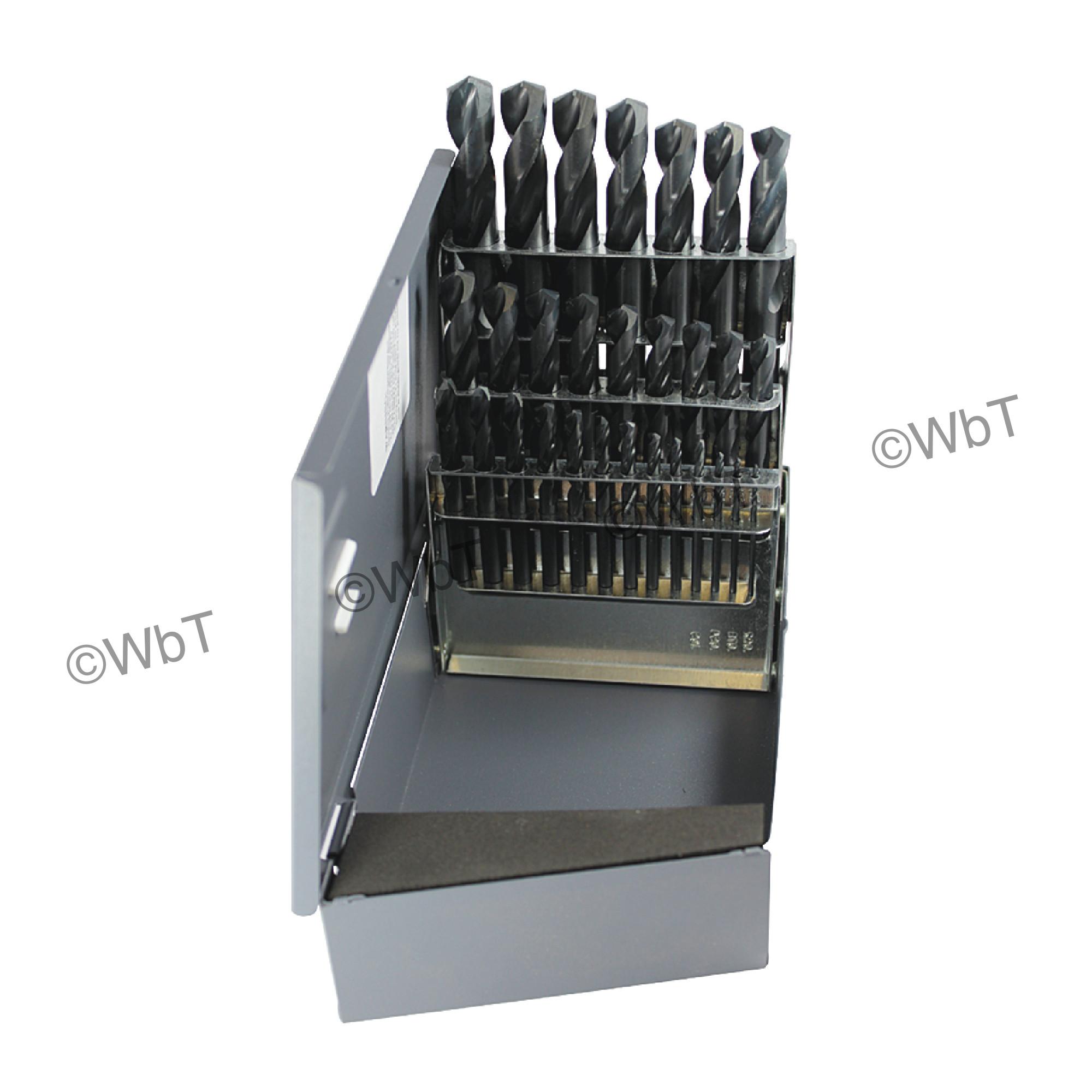 RM29B HSS 1/16-1/2 135 STUB DRILL SET-RUSHMORE