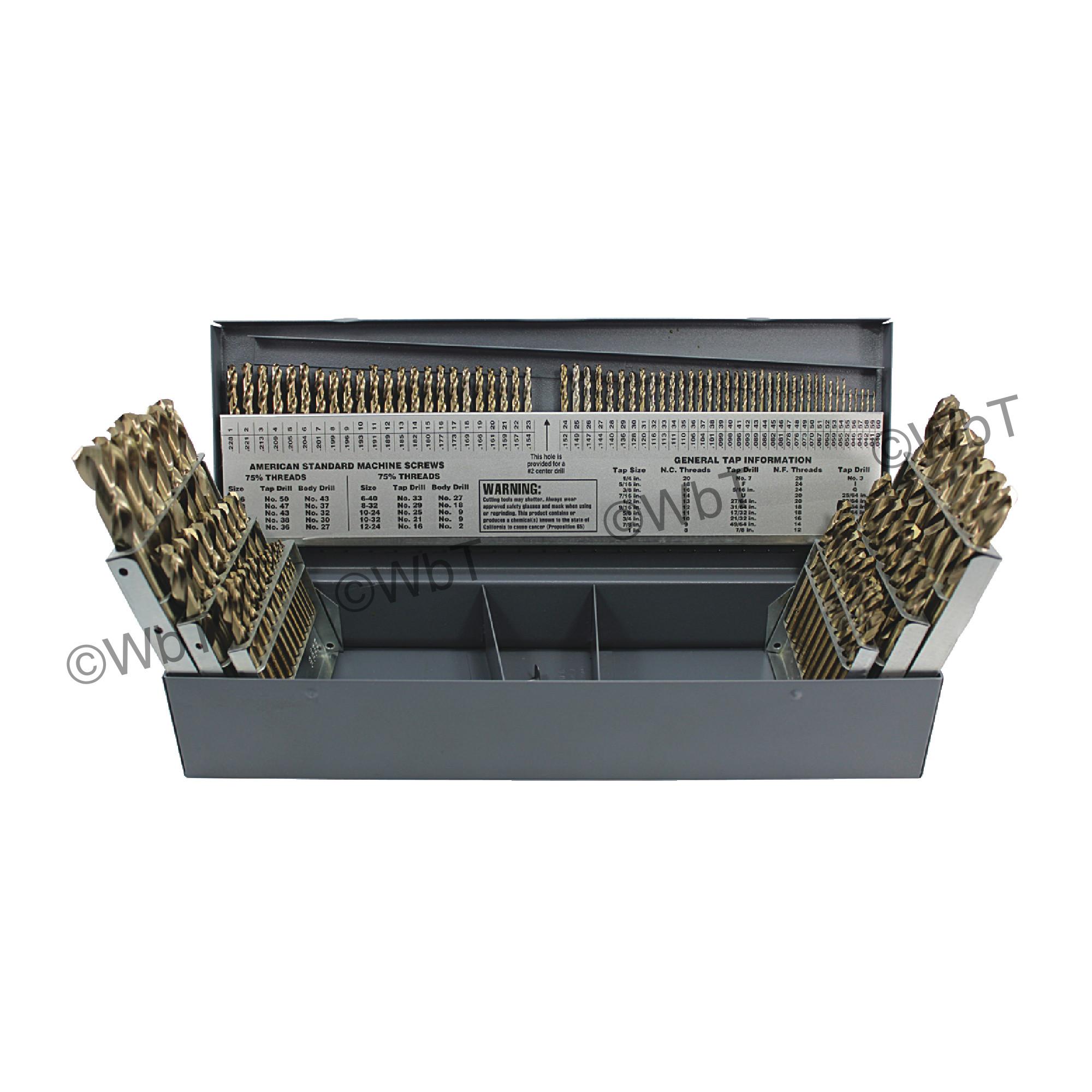 RM115CO 115 PC COB 135 STUB DRILL SET-RUSHMORE