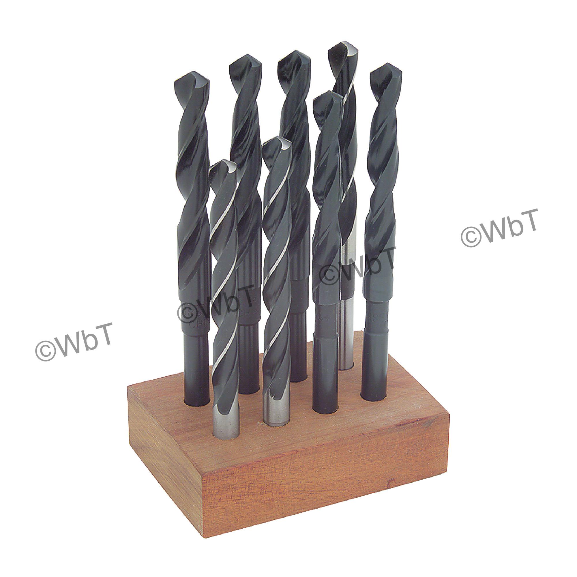 "3/8"" Reduced Shank High Speed Steel Twist Drill Set"