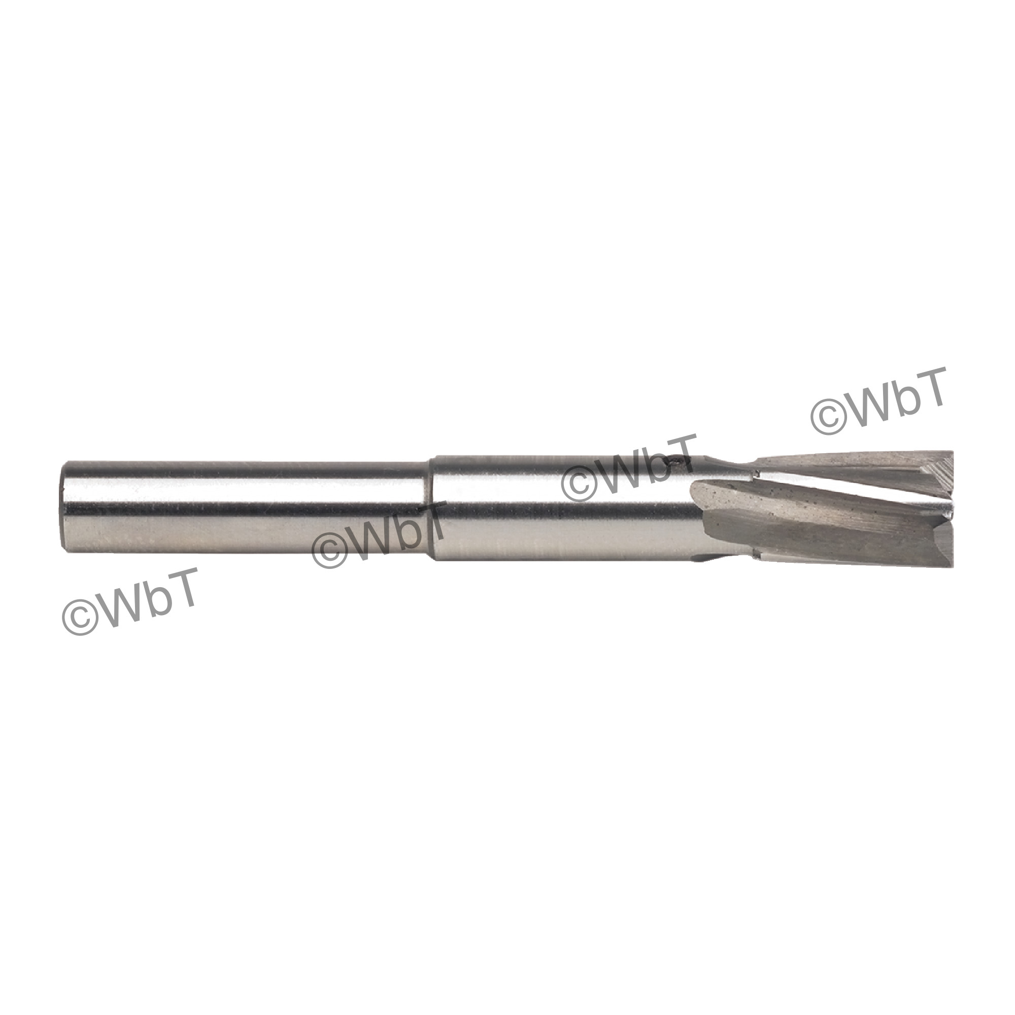 """4 Flute 1/4"""" Straight Shank High Speed Steel Aircraft Counterbore (Short Series)"""