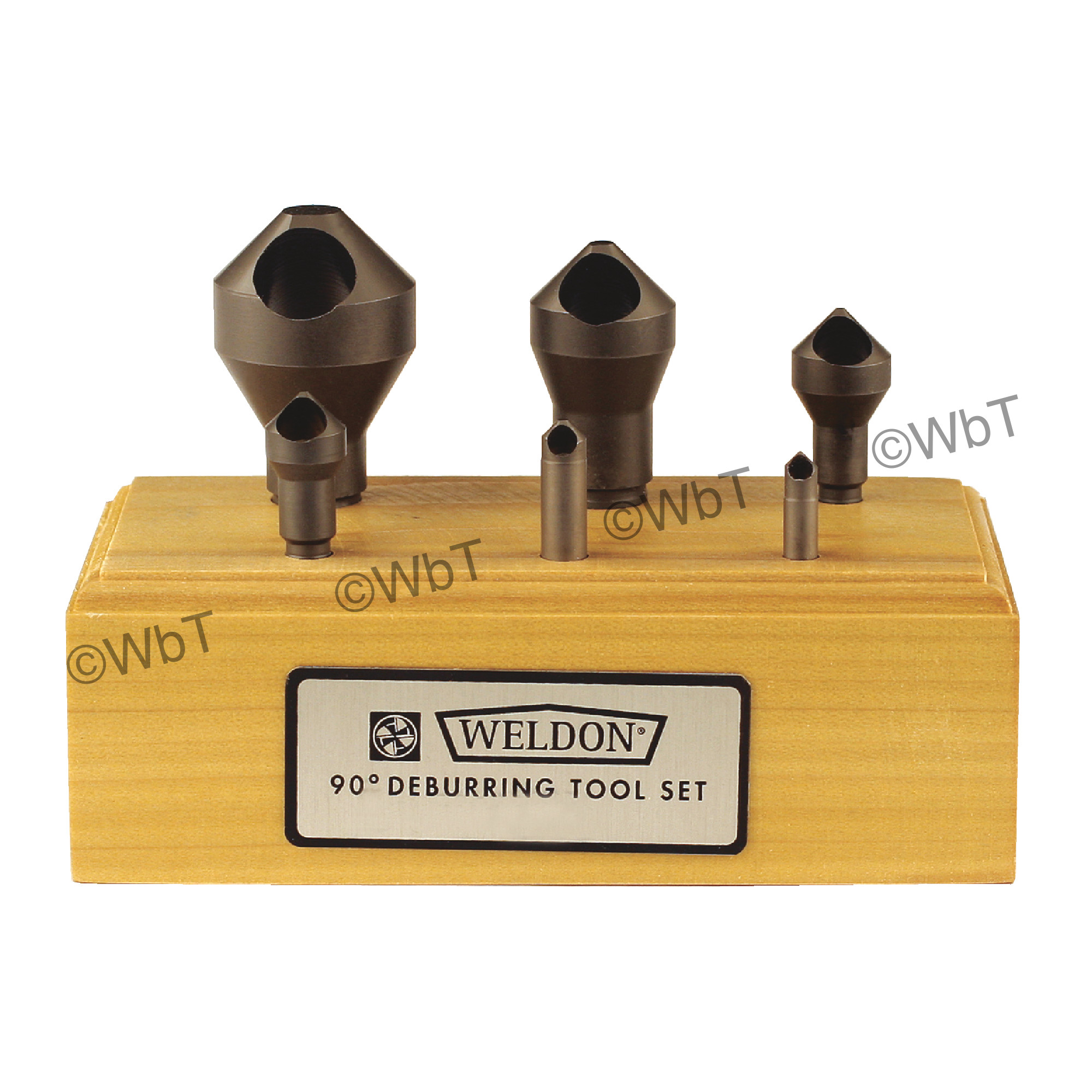 WELDON 0 Flute 6 Piece  High Speed Steel 90° Included Angle Countersink Set