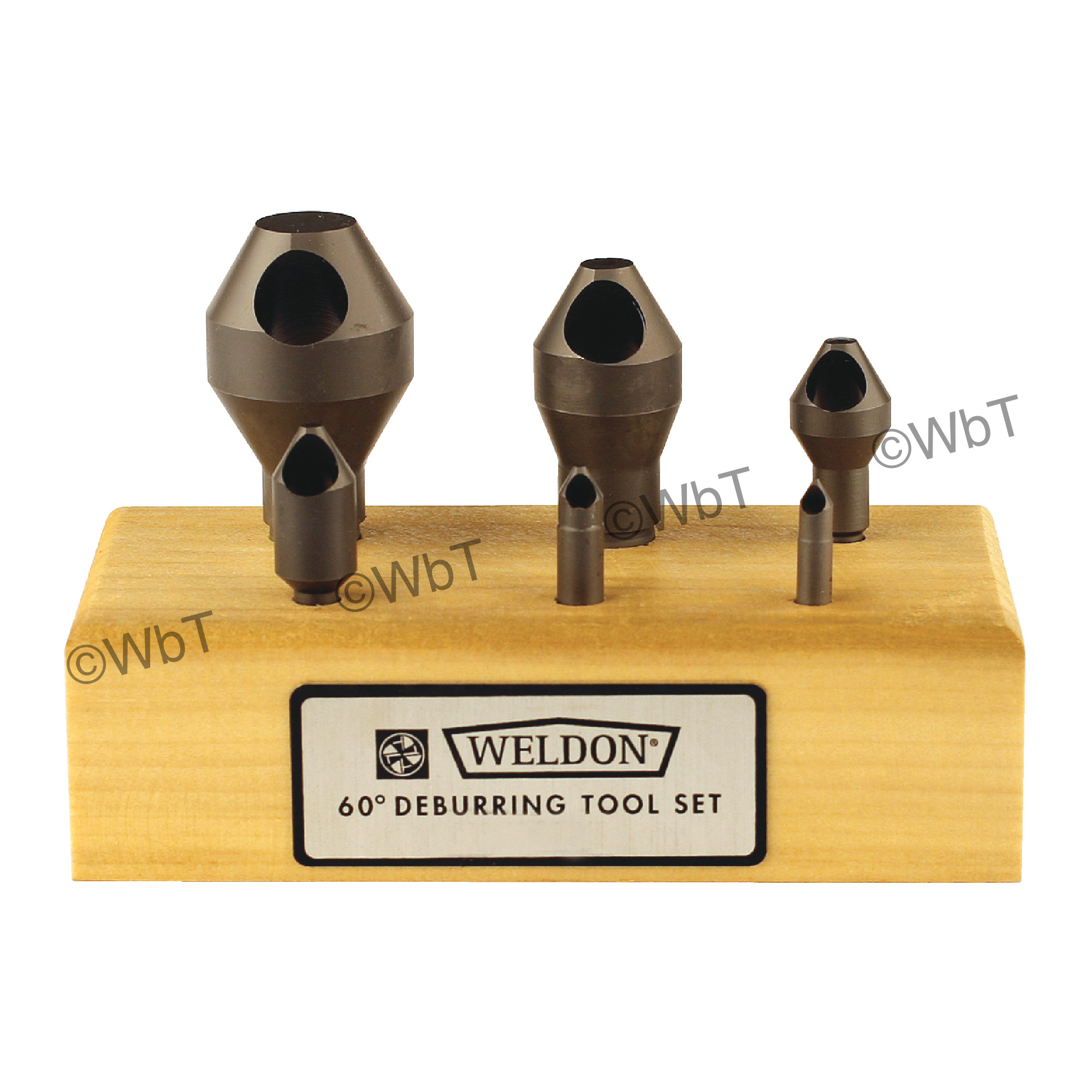 WELDON 0 Flute 6 Piece  High Speed Steel 60° Included Angle Countersink Set