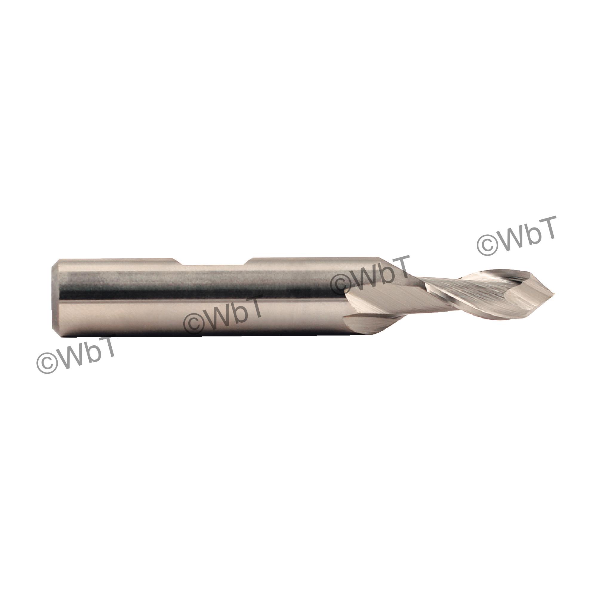 "1/4"" x 90° Cobalt 2 Flute Drill-Mill Single End Mill"