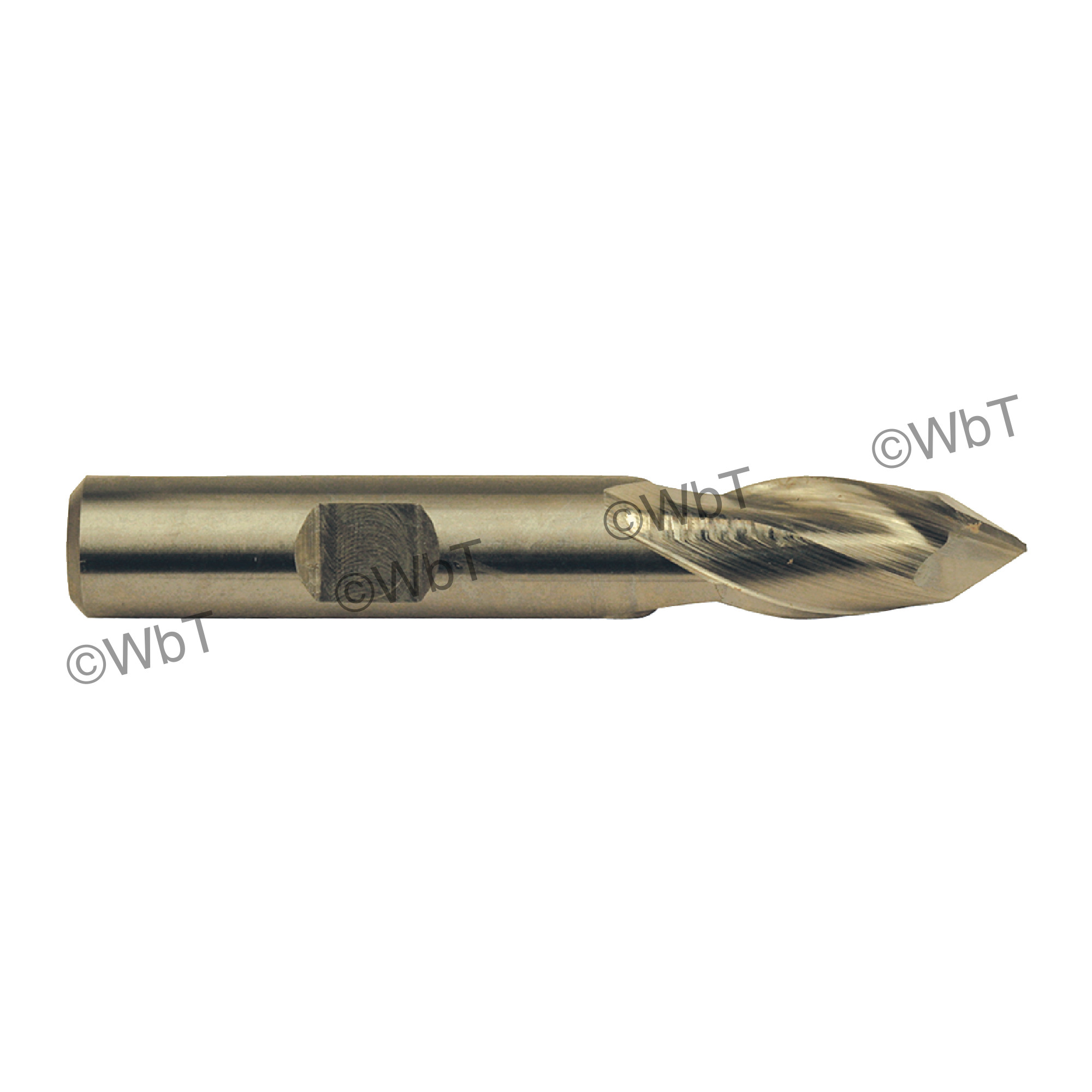 "1/2"" x 90° Cobalt 2 Flute Drill-Mill Single End Mill"