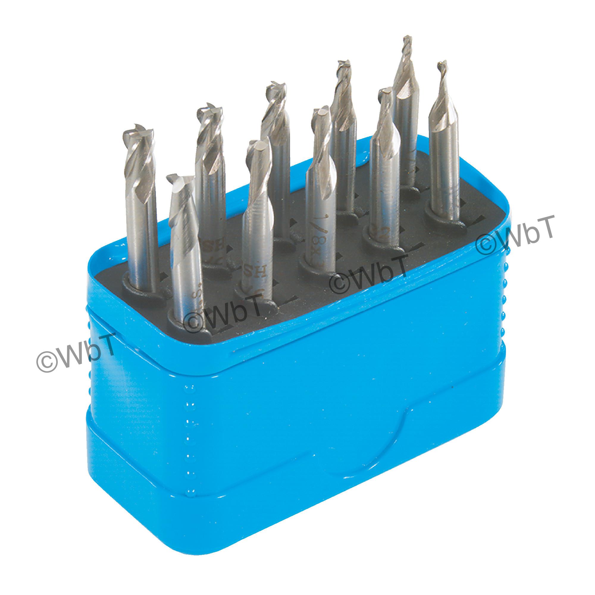 "3/16"" Shank Miniature Double End Mill Set"