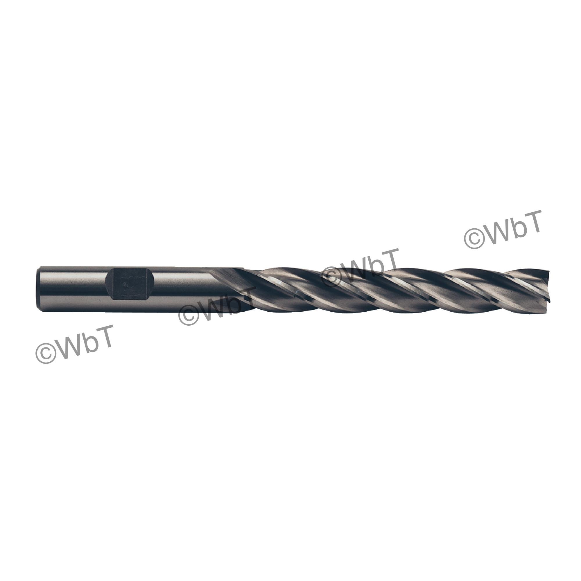 "1"" Multi Flute Center Cutting X-Long High Speed Steel End Mill"