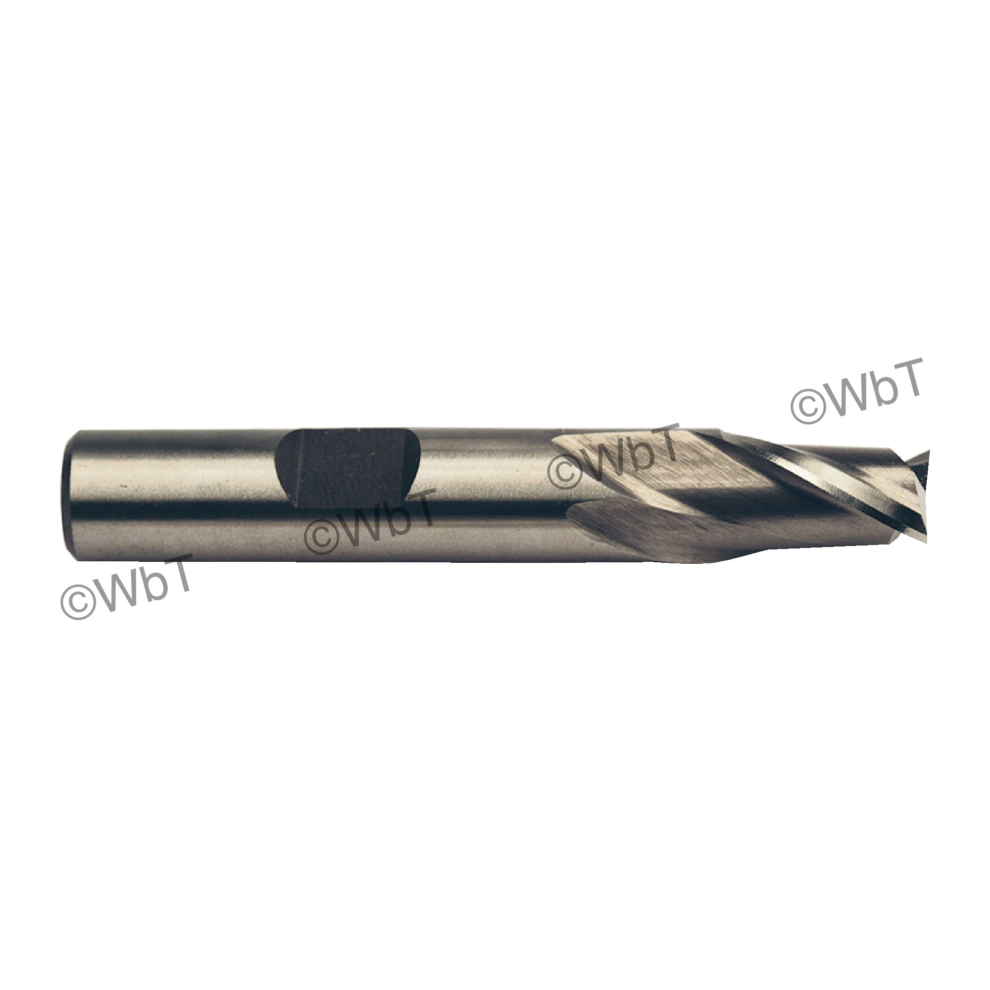 """1"""" 2 Flute High Speed Steel Center Cutting Single End Mill"""