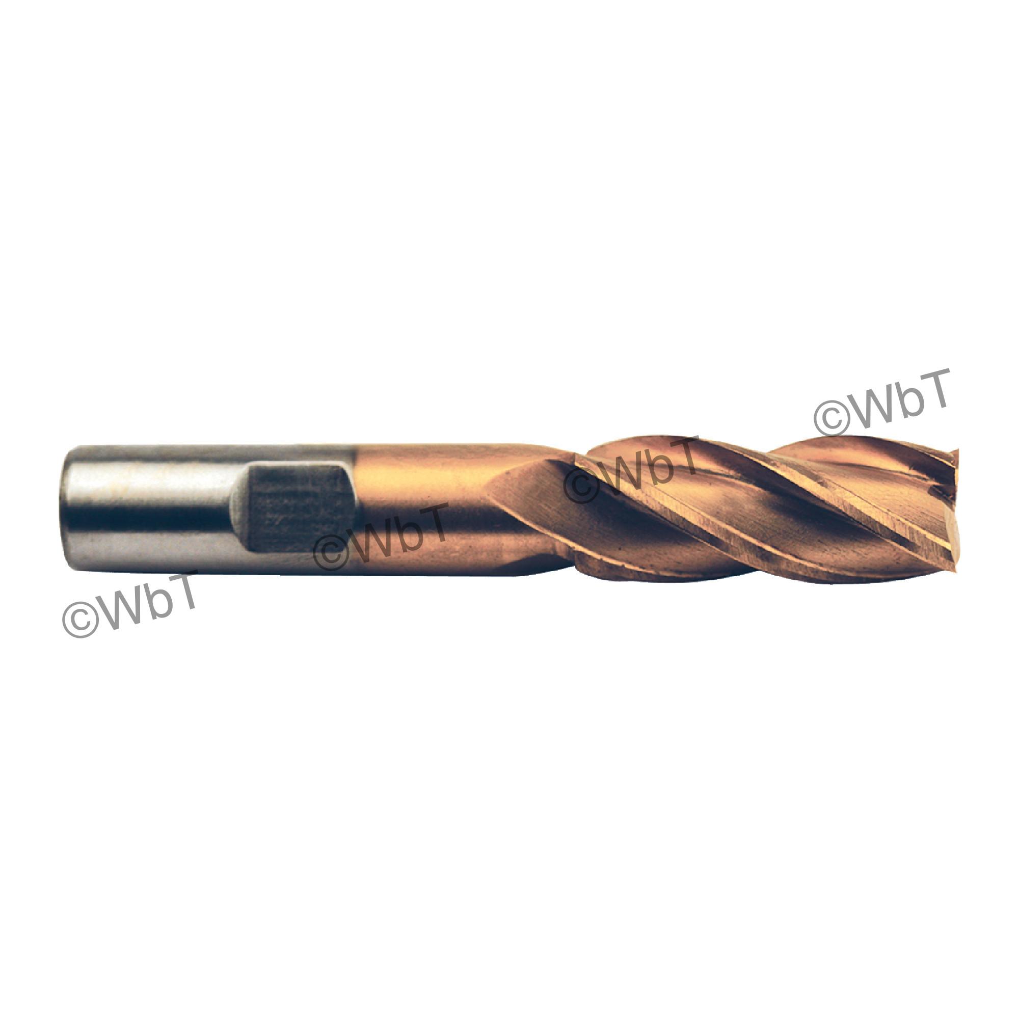 1-1/2 Mult Flute High Speed Steel Tin Center Cutting Sgl End Mill