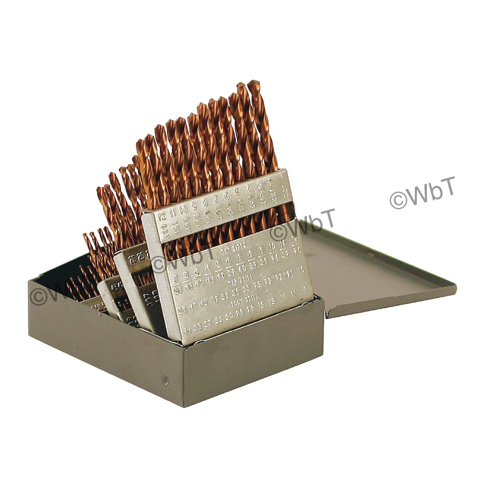 #1-60 Jobbers Length Twist Drill Set - TICN Coated