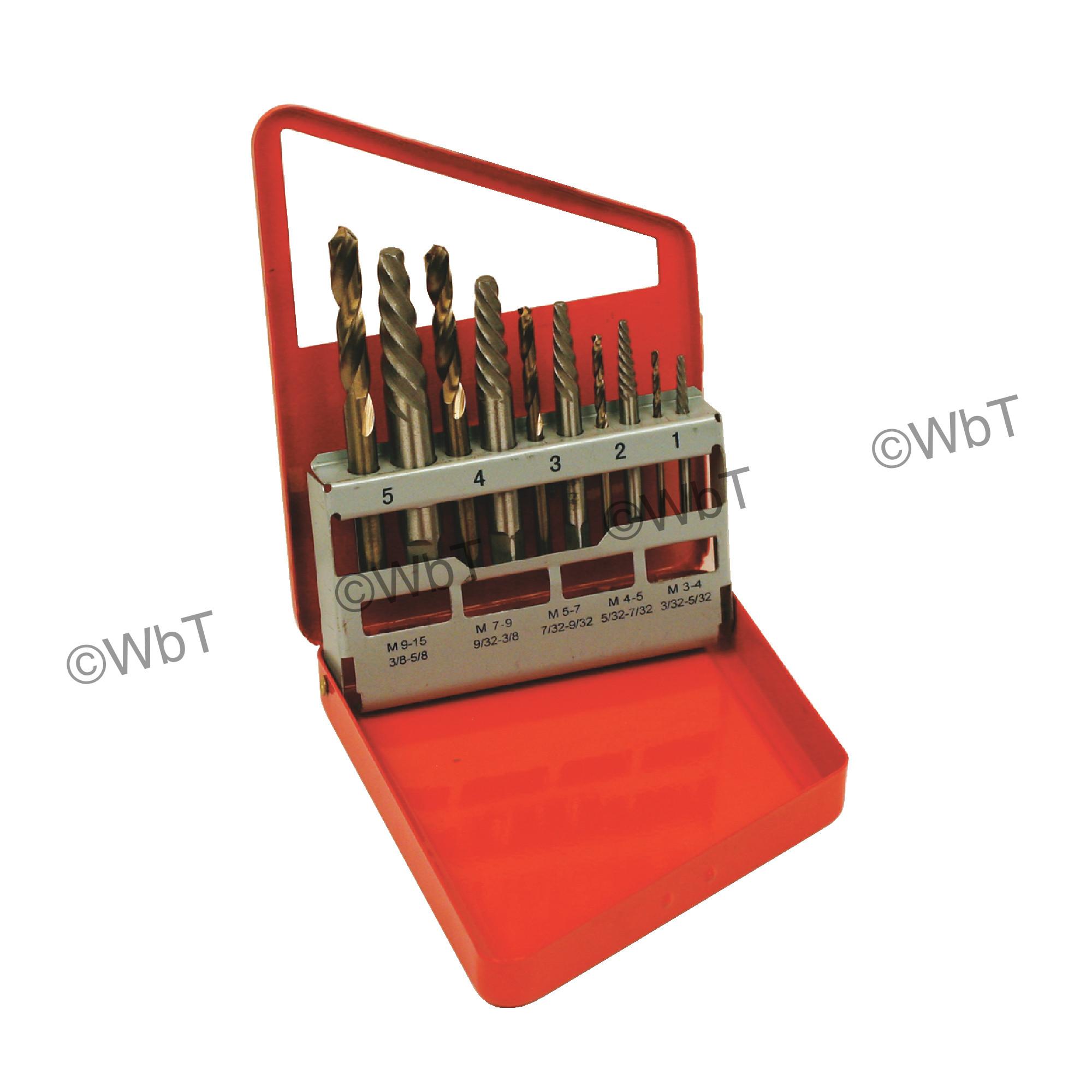 11 Piece High Speed Steel Cobalt Drill & Extractor Set