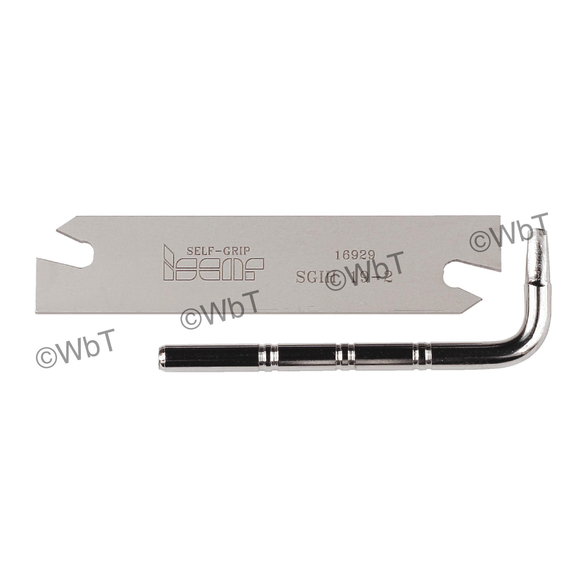 "ISCAR - SGIH 19-2 Parting Blade / GTN 2 Inserts / 3/4"" (19mm) Blade Height / NEUTRAL"