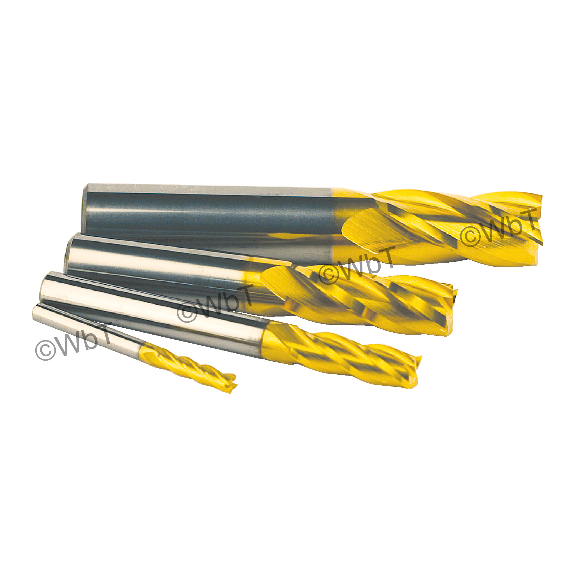 4 Piece 4 Flute SUPERCEED® Solid Carbide Coated Single End Mill Sets