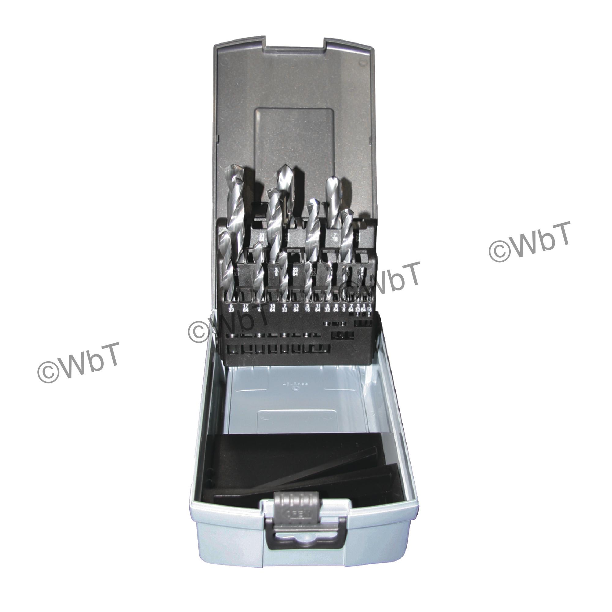 15 Piece Solid Carbide Jobber Length 118 ° Bright Finish Drill Set