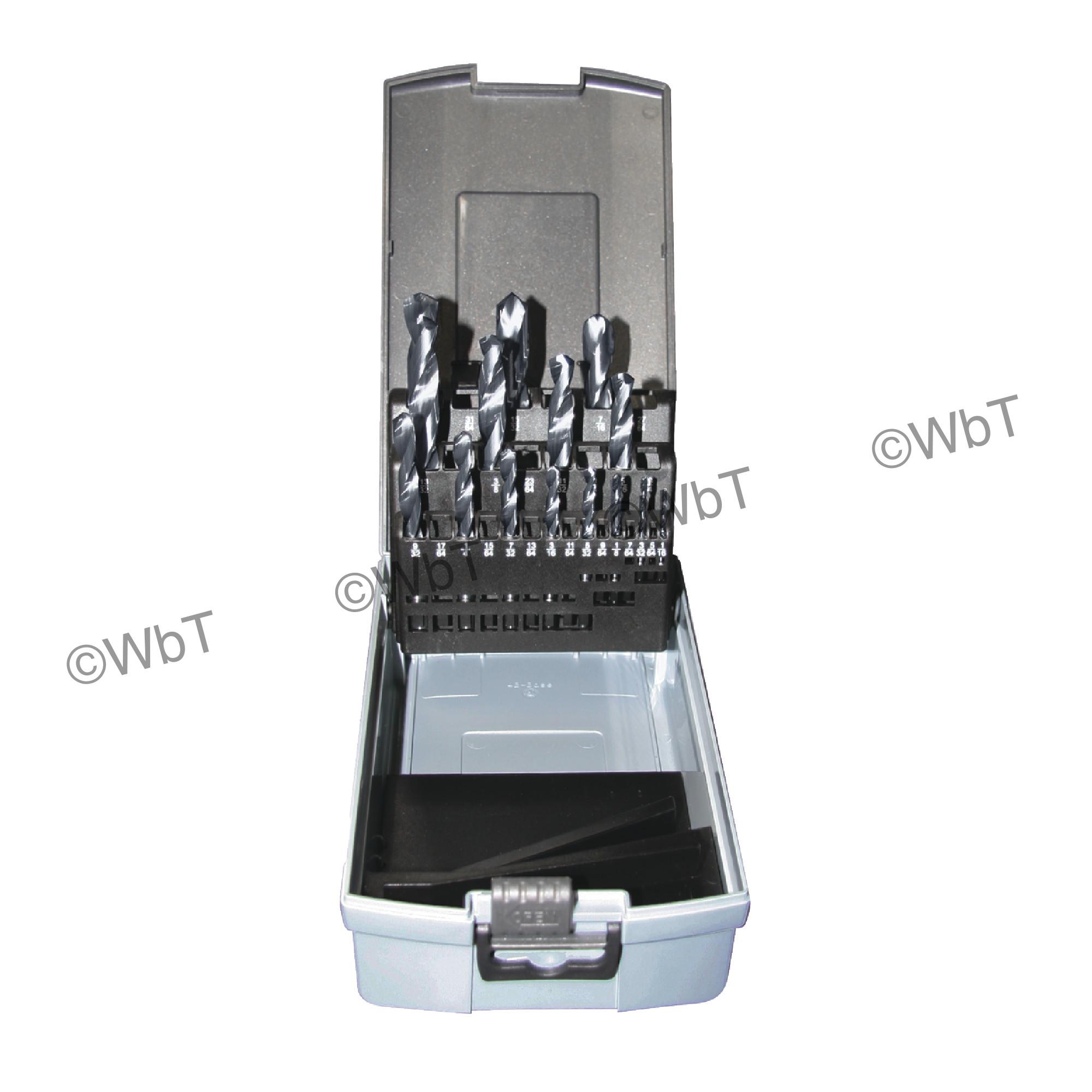 15 Piece Solid Carbide Jobber Length 118 ° AlTiN Drill Set