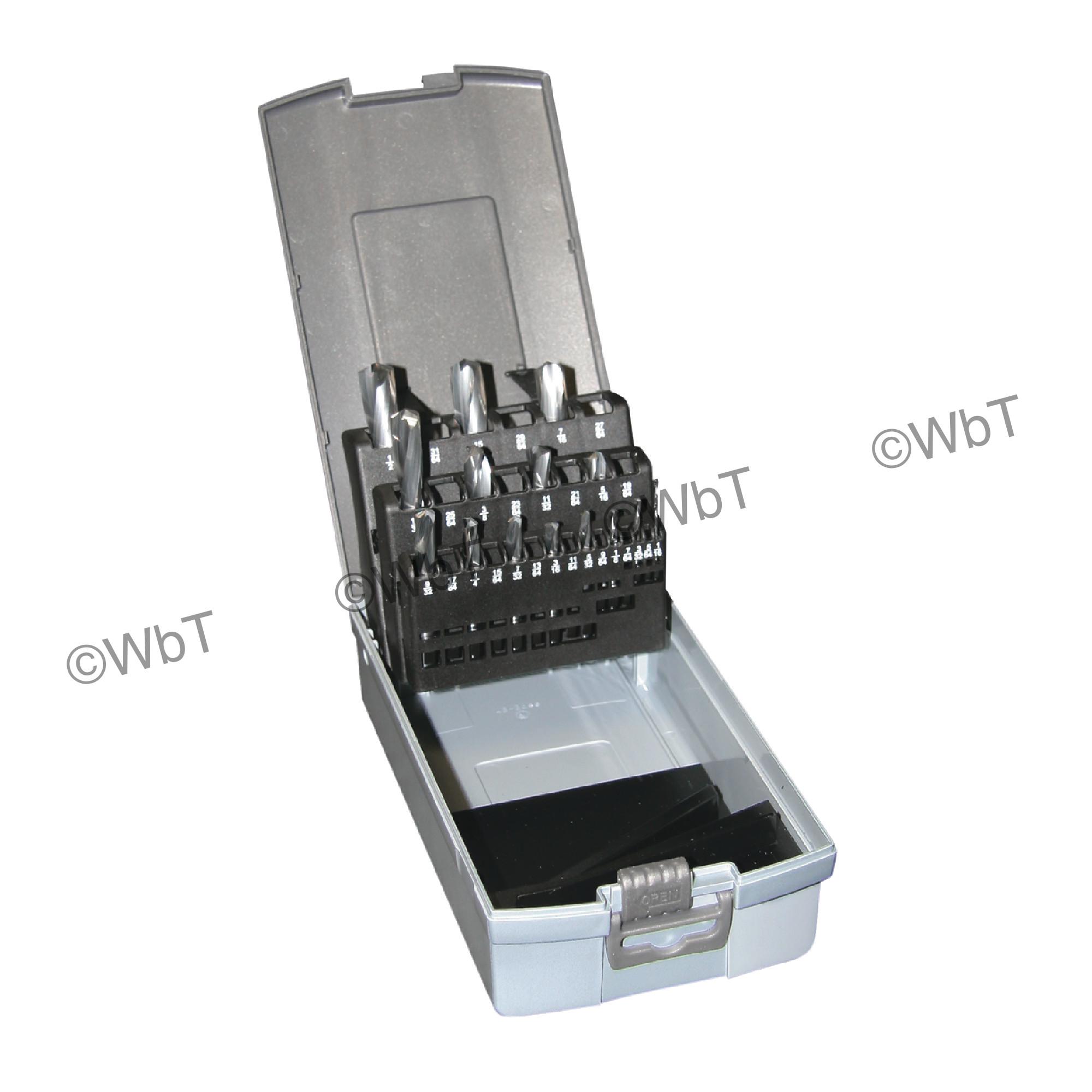 15 Piece Solid Carbide Screw Machine Length 118 degree Bright Finish Drill Set