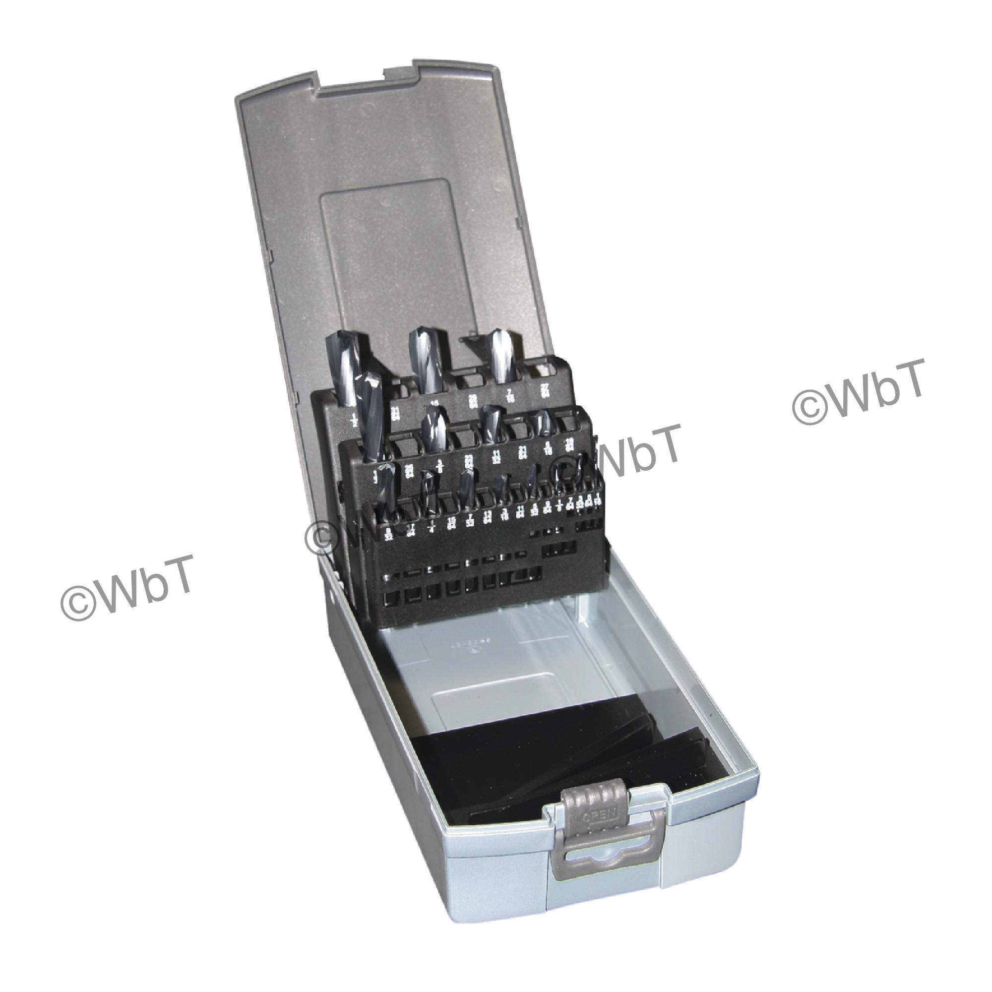 15 Piece Solid Carbide Screw Machine Length 118 degree AlTiN Drill Set