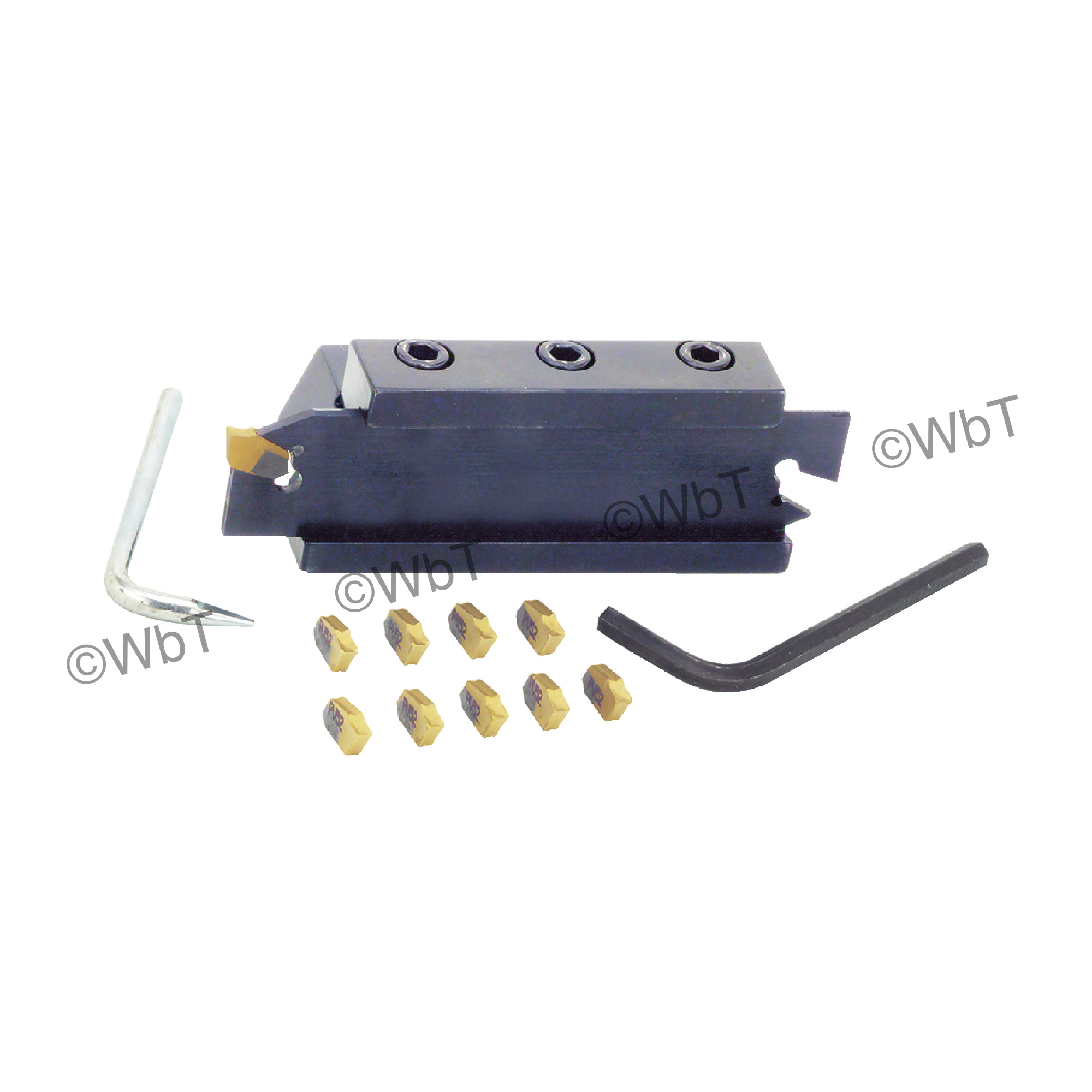 """TTC PRODUCTION - NCO-4 5/8"""" Blade Block Set / 5/8"""" X 5/8"""" Shank / For 1.0"""" (26mm) Height Blades / With (10) TGTN-3-C5PV"""