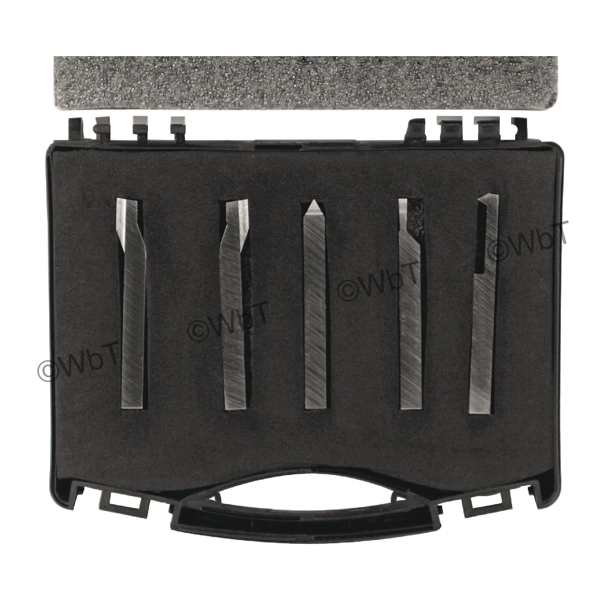 5 PC 1/2 Shank High Speed Steel Lathe Tool Set