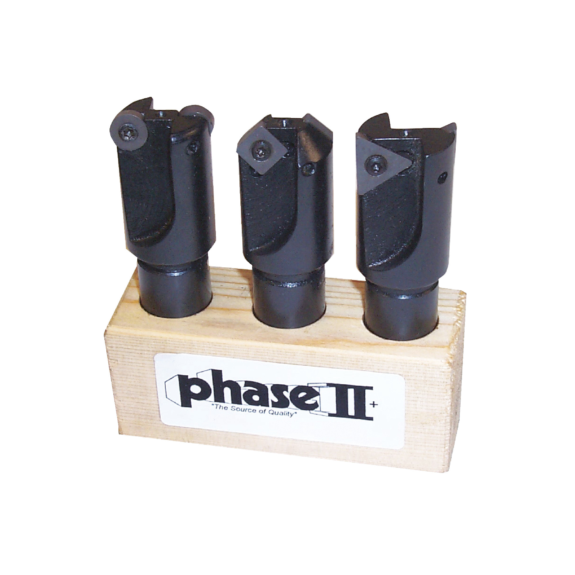 """PHASE II - Milling Set With Inserts / Includes: (1) 45° Endmill (1.0""""ø), (1) 90° Endmill (1.0""""ø)"""