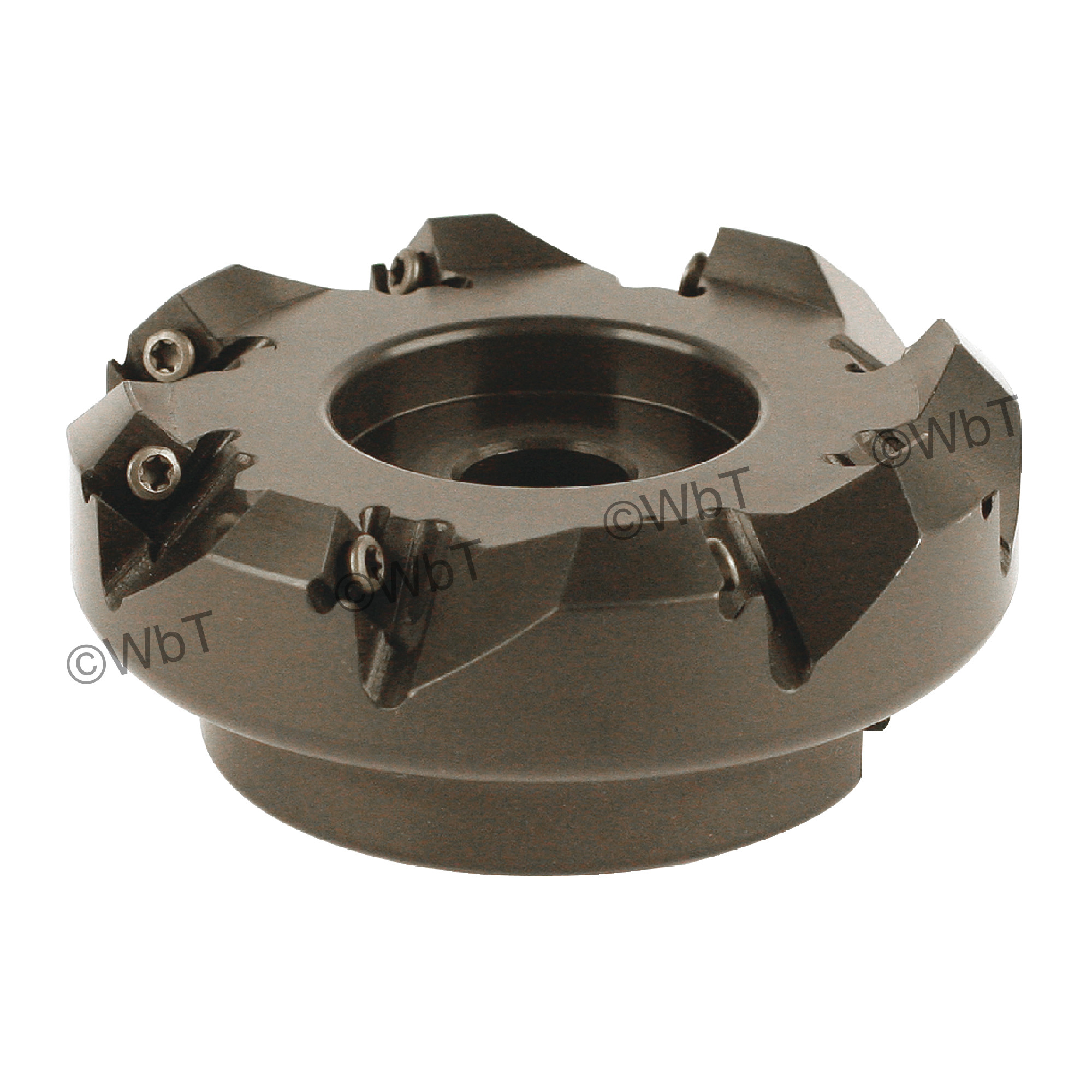 """AKUMA - SNAC.12.400R-8 / 4.000"""" 45° Face Mill for SNMX1205ANN Inserts / Right Hand"""