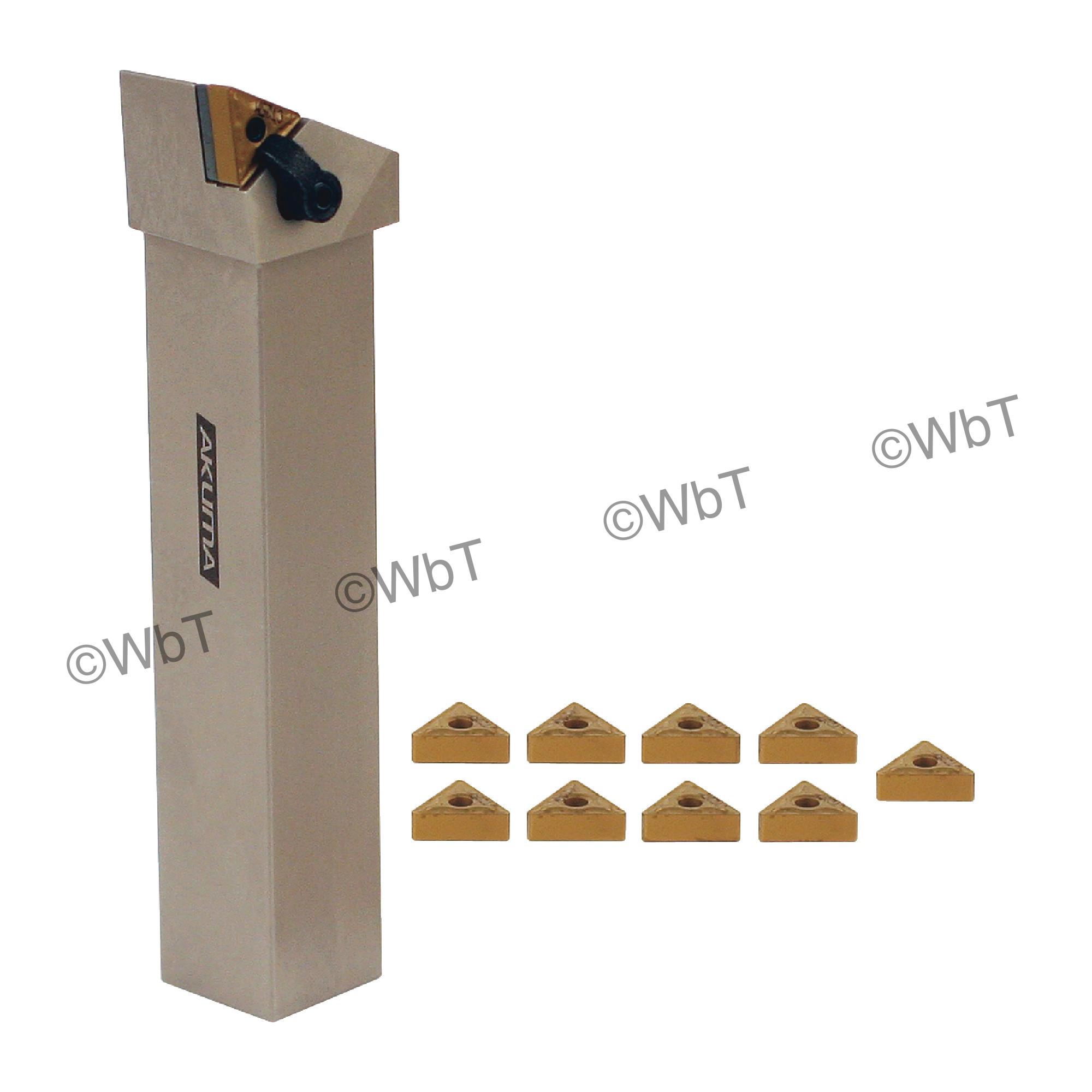 "AKUMA - 1.000"" TNMG33_ Turning Set / Includes: (1) MTJNR16-3D &  (1.0"" Tool Holder) & (10) TNMG332-MRP1 CT25M Coated Ins"