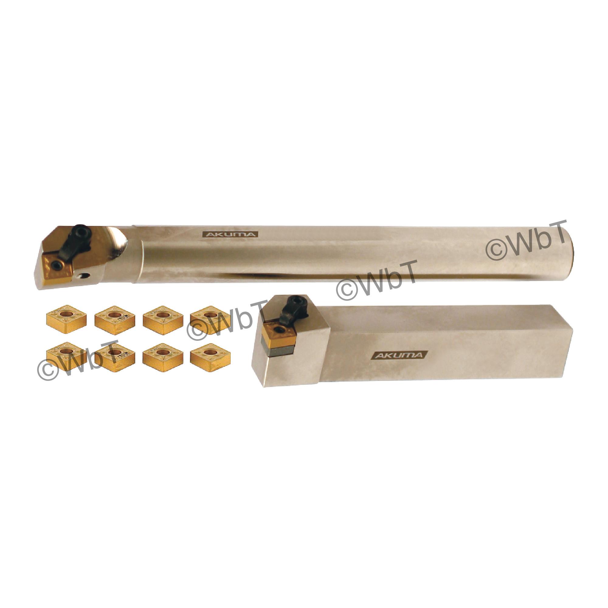 "AKUMA - 1.000"" CNMG43_ Turning & Boring Bar Set / Includes: (1) MCLNR16-4D (1.0"" Tool Holder), (1) A16S-MCLNR-4 (1.0""&os"