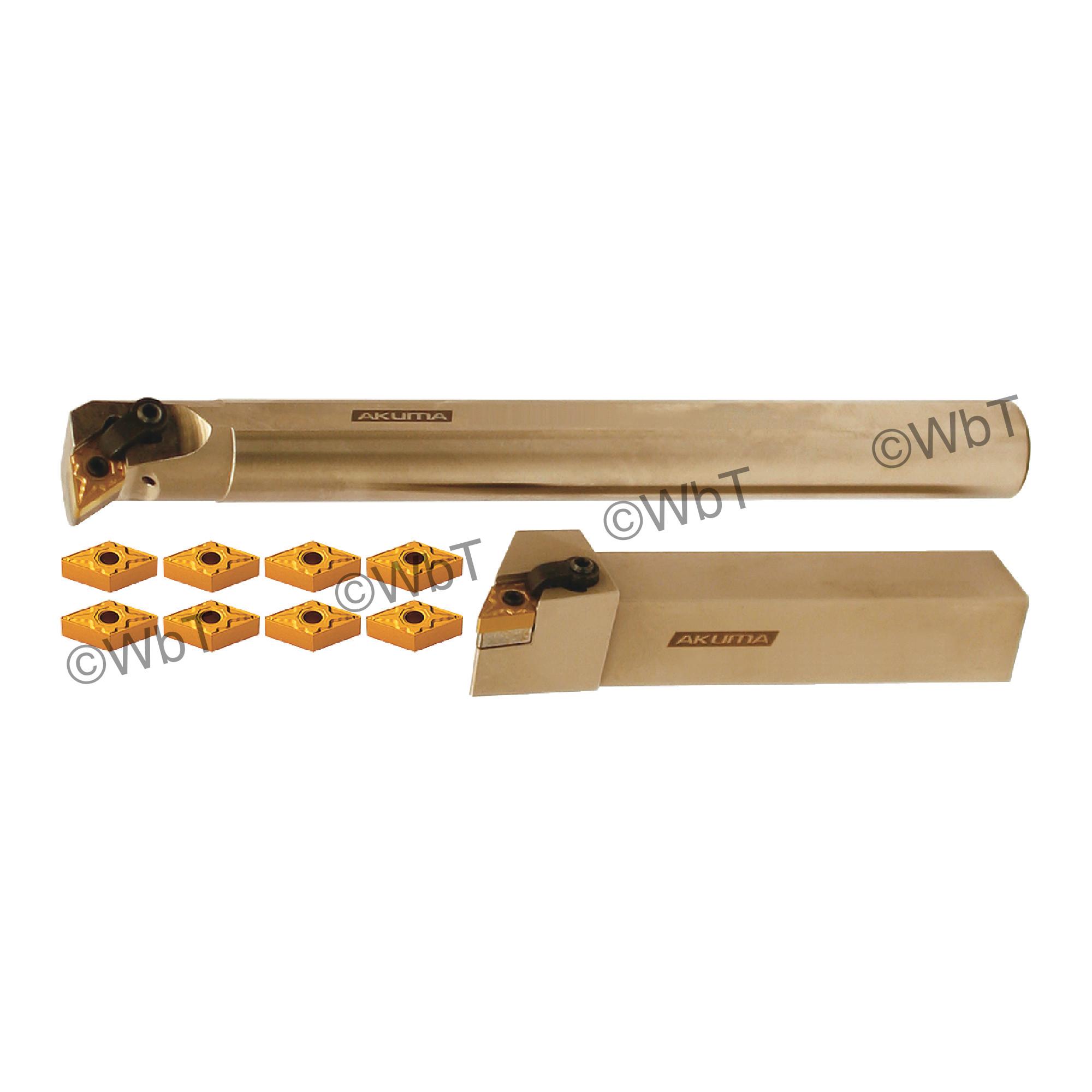 "AKUMA - 1.000"" DNMG43_ Turning & Boring Bar Set / Includes: (1) MDJNR16-4D (1.0"" Tool Holder), (1) A16S-MDUNR-4 (1.0""&os"