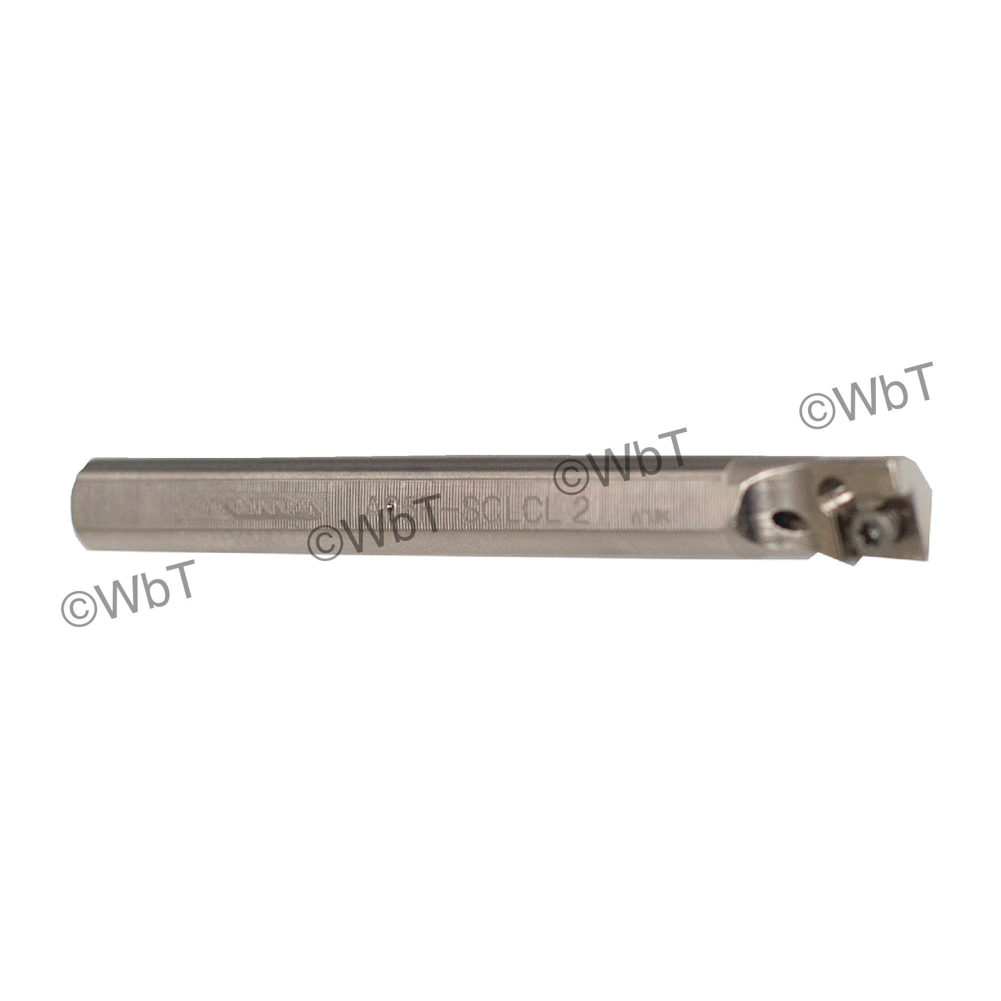 "AKUMA - A05F-SCLCL-2 / Steel Boring Bar / 5/16"" Shank / CCMT2(1.5)_ / Cooalnt Thru / Left Hand"