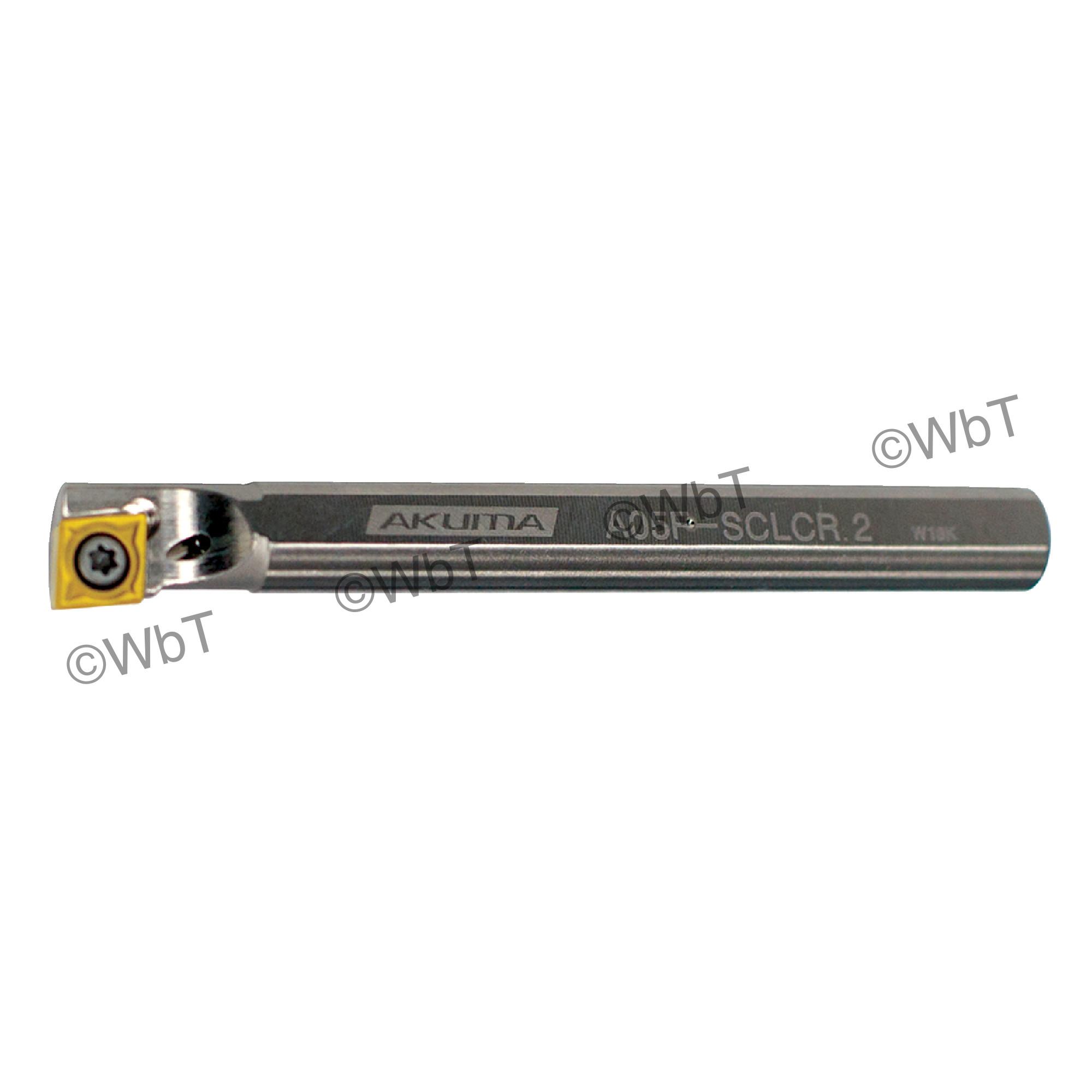 """AKUMA - A05F-SCLCR-2 / Steel Boring Bar / 5/16"""" Shank / CCMT2(1.5)_ / Cooalnt Thru / Right Hand"""
