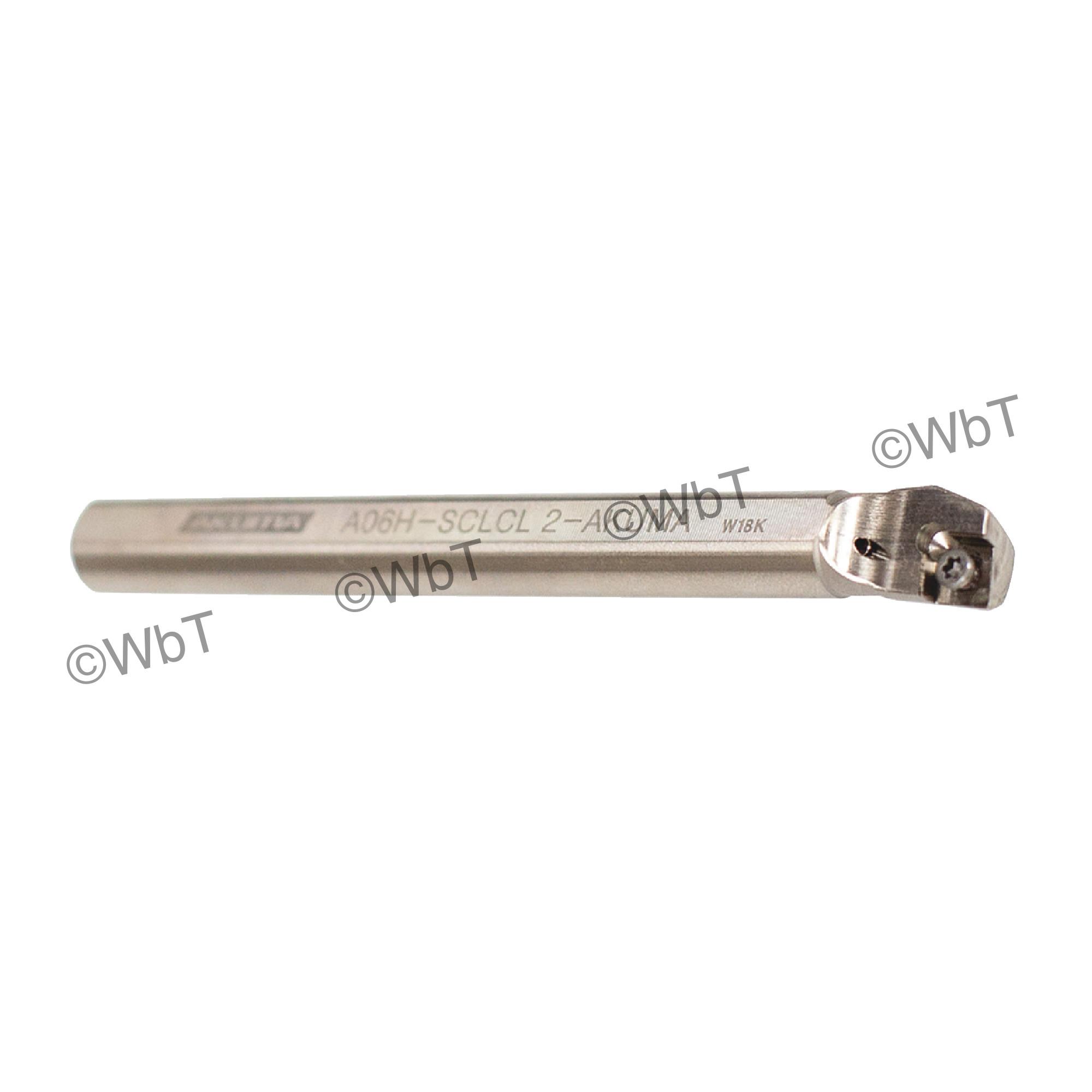 """AKUMA - A06H-SCLCL-2 / Steel Boring Bar / 3/8"""" Shank / CCMT2(1.5)_ / Cooalnt Thru / Left Hand"""