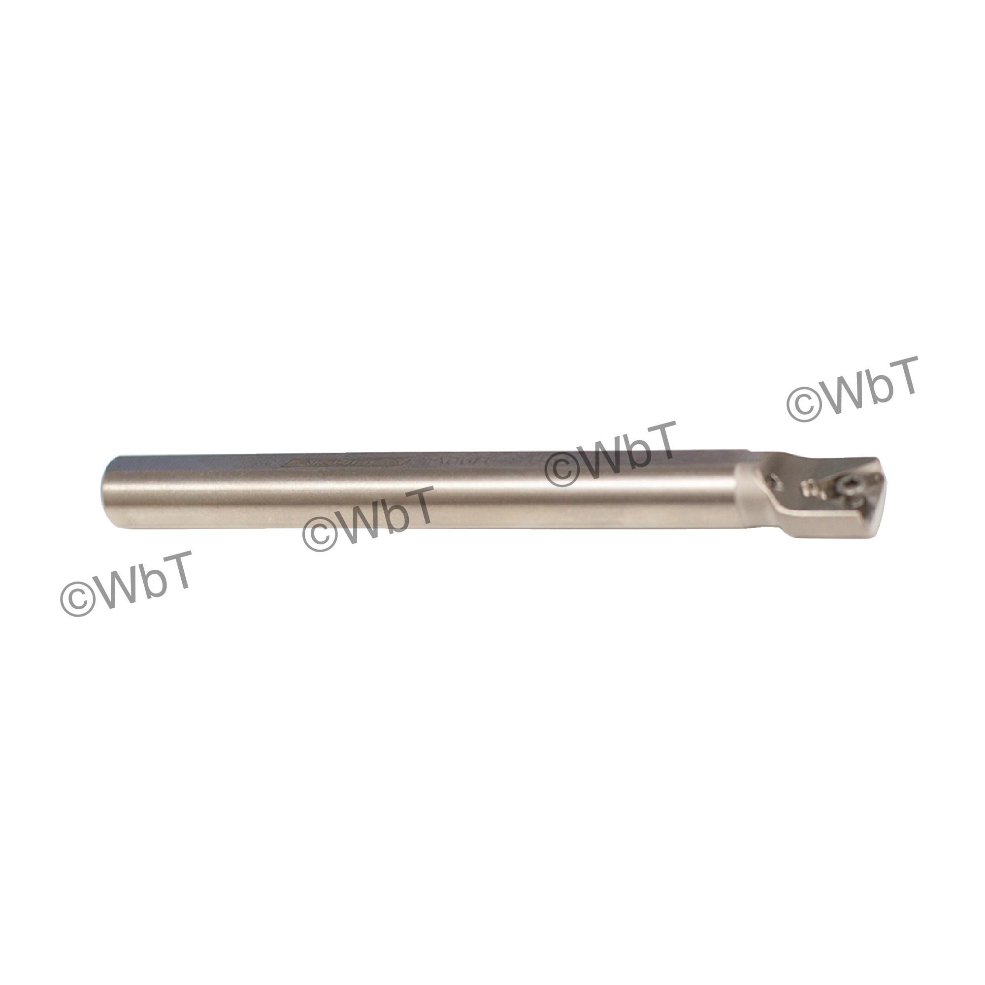 "AKUMA - A06H-STFCL-2 / Steel Boring Bar / 3/8"" Shank / TCMT2(1.5)_ / Cooalnt Thru / Left Hand"