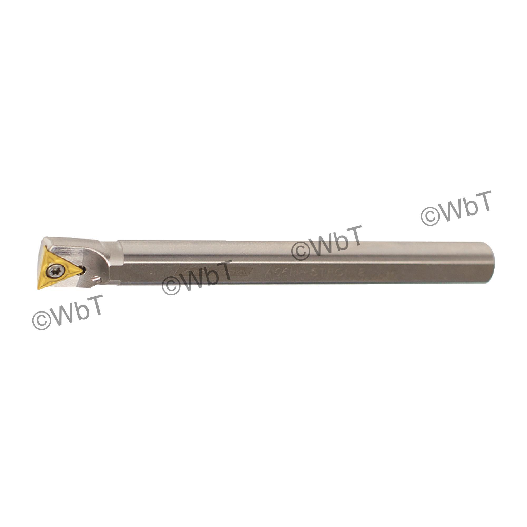 "AKUMA - A06H-STFCR-2 / Steel Boring Bar / 3/8"" Shank / TCMT2(1.5)_ / Cooalnt Thru / Right Hand"
