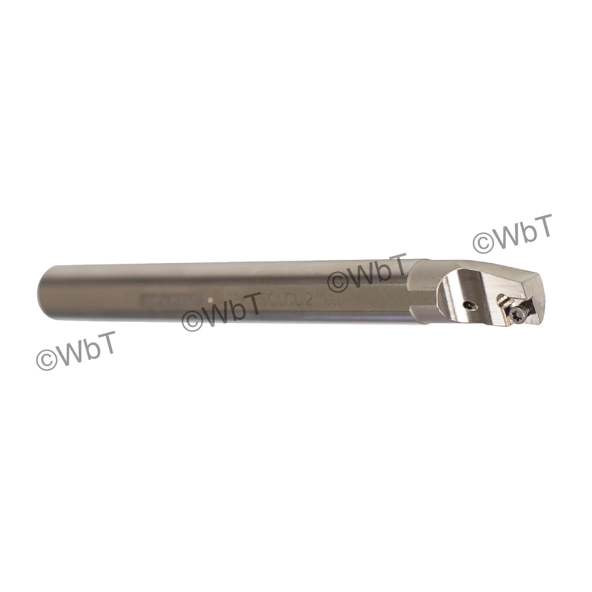 """AKUMA - A08K-SCLCL-2 / Steel Boring Bar / 1/2"""" Shank / CCMT2(1.5)_ / Cooalnt Thru / Left Hand"""