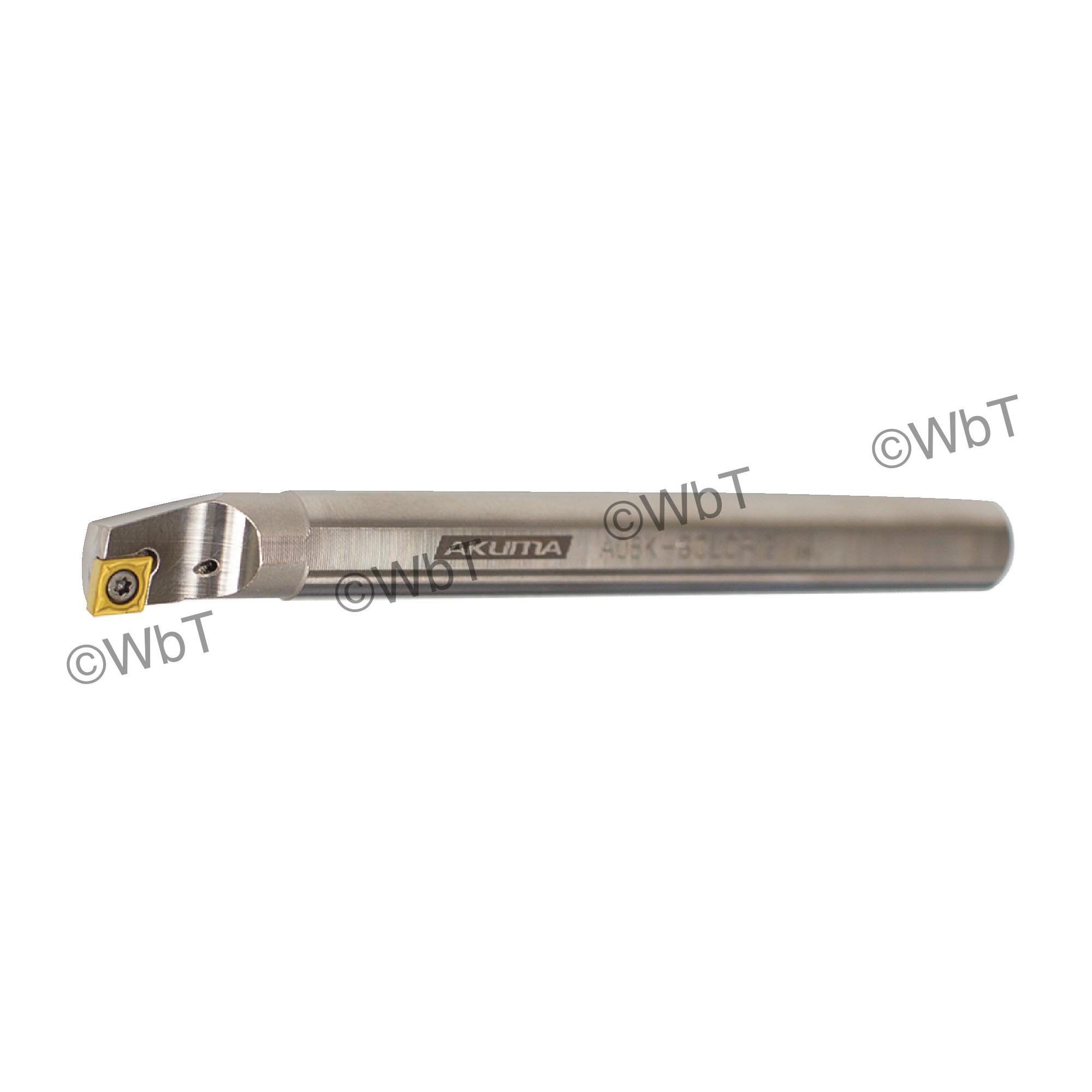 """AKUMA - A08K-SCLCR-2 / Steel Boring Bar / 1/2"""" Shank / CCMT2(1.5)_ / Cooalnt Thru / Right Hand"""