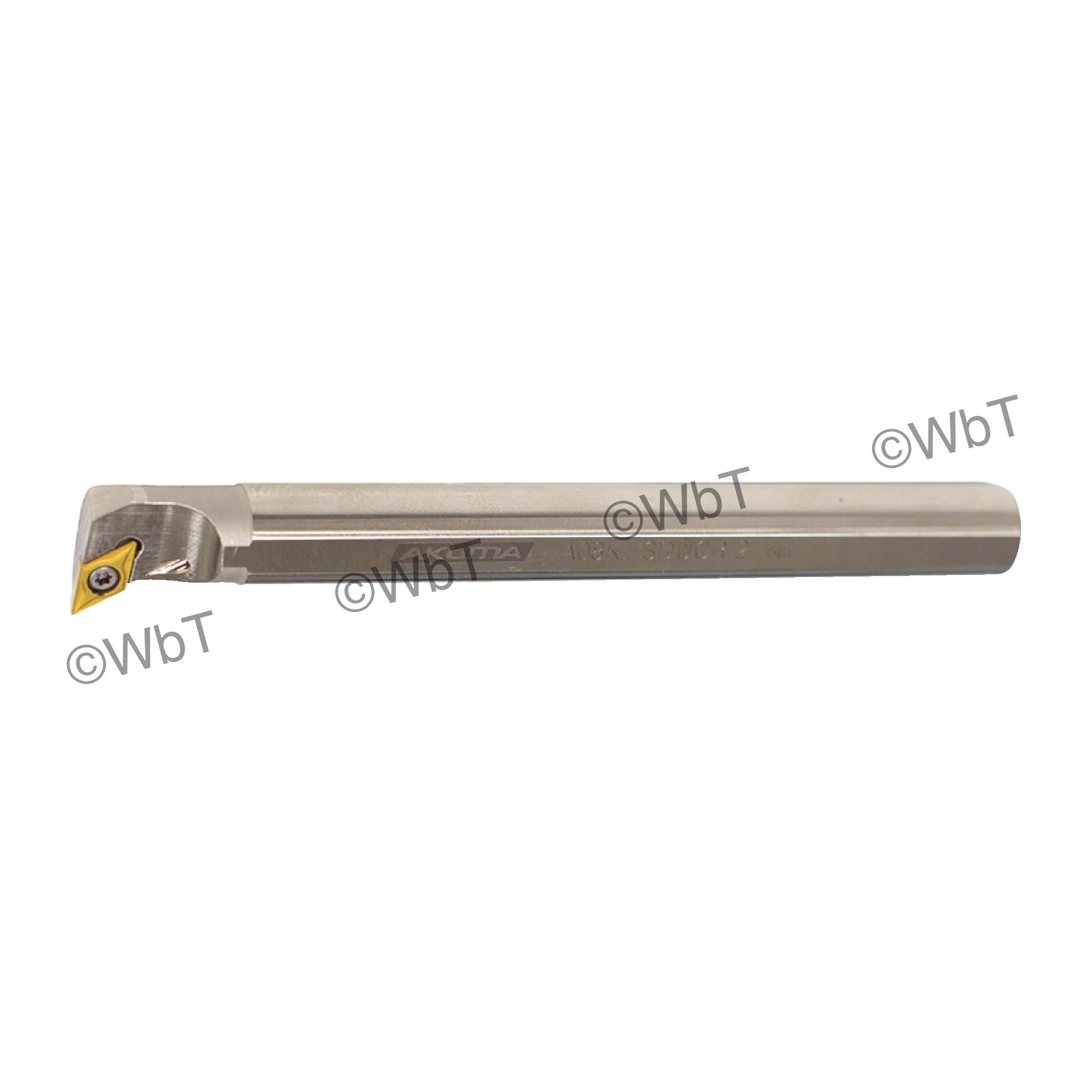 """AKUMA - A08K-SDUCR-2 / Steel Boring Bar / 1/2"""" Shank / DCMT2(1.5)_ / Cooalnt Thru / Right Hand"""