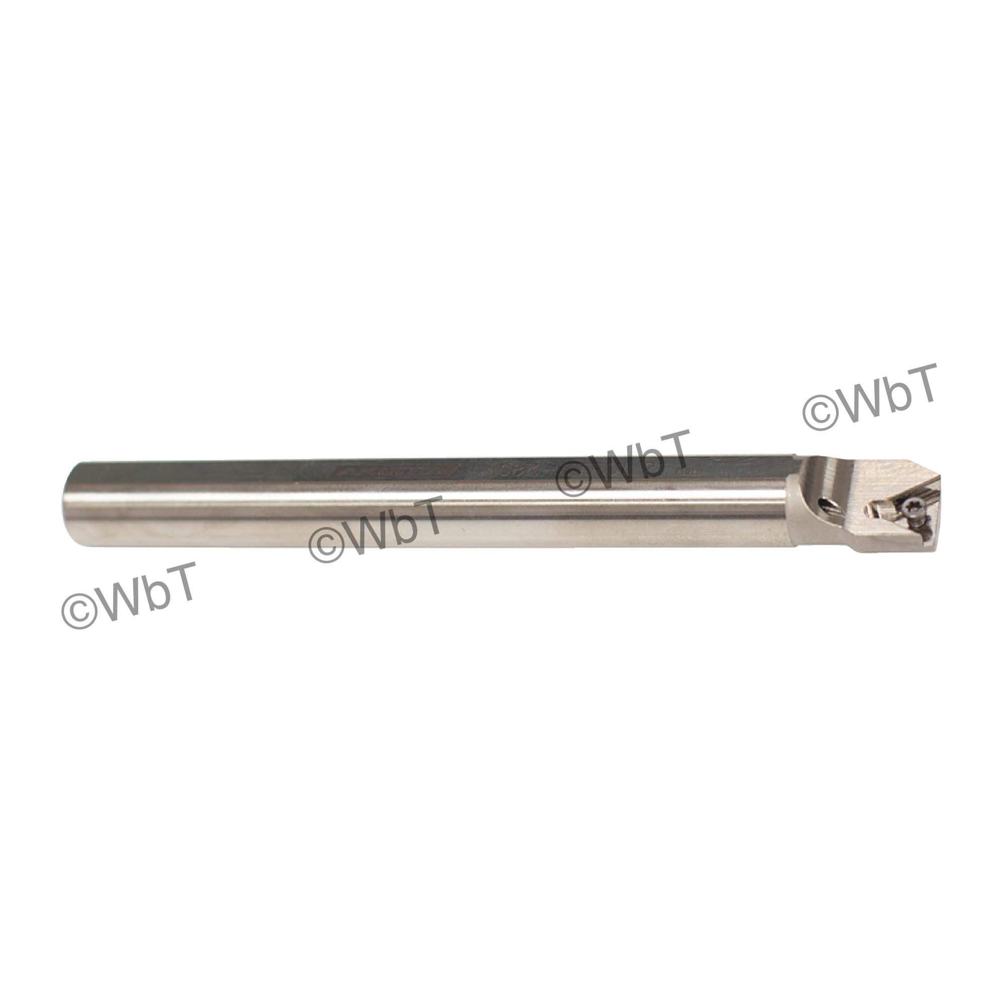 "AKUMA - A08K-STFCL-2 / Steel Boring Bar / 1/2"" Shank / TCMT2(1.5)_ / Cooalnt Thru / Left Hand"