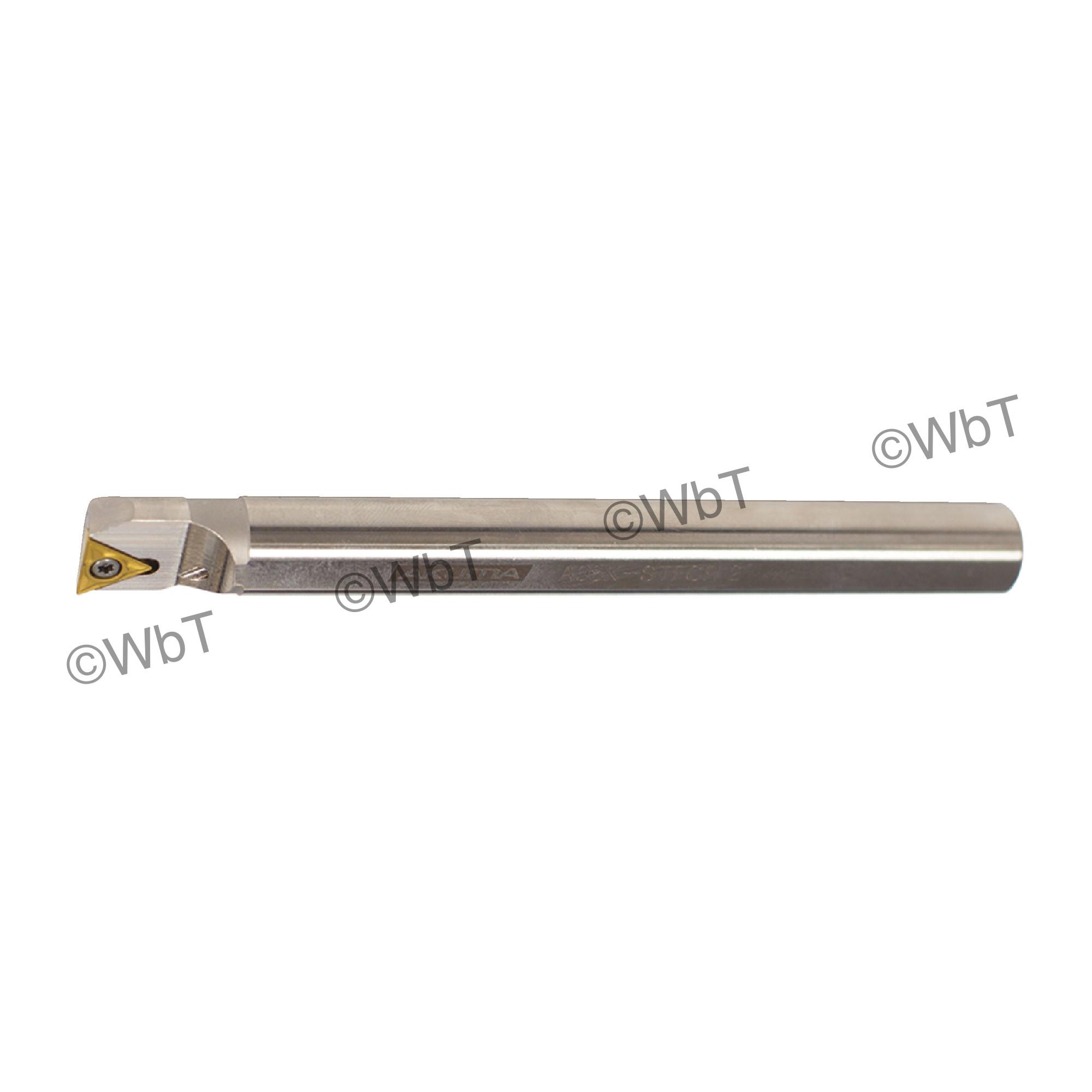 "AKUMA - A08K-STFCR-2 / Steel Boring Bar / 1/2"" Shank / TCMT2(1.5)_ / Cooalnt Thru / Right Hand"