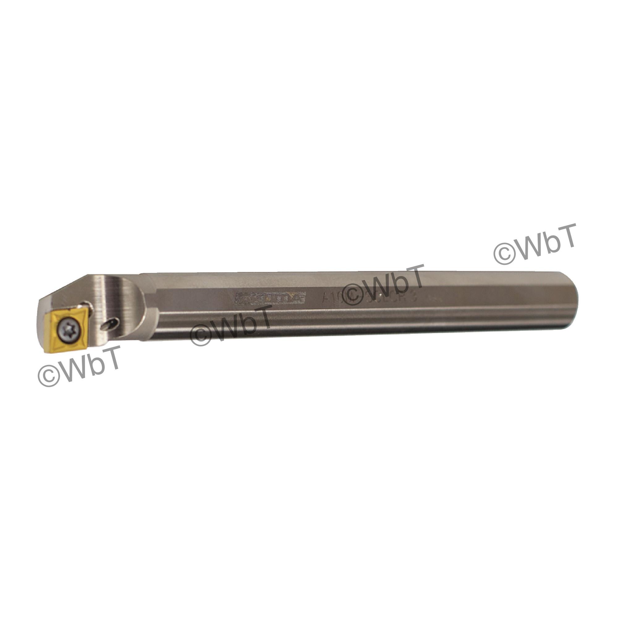 """AKUMA - A10M-SCLCR-3 / Steel Boring Bar / 5/8"""" Shank / CCMT3(2.5)_ / Cooalnt Thru / Right Hand"""
