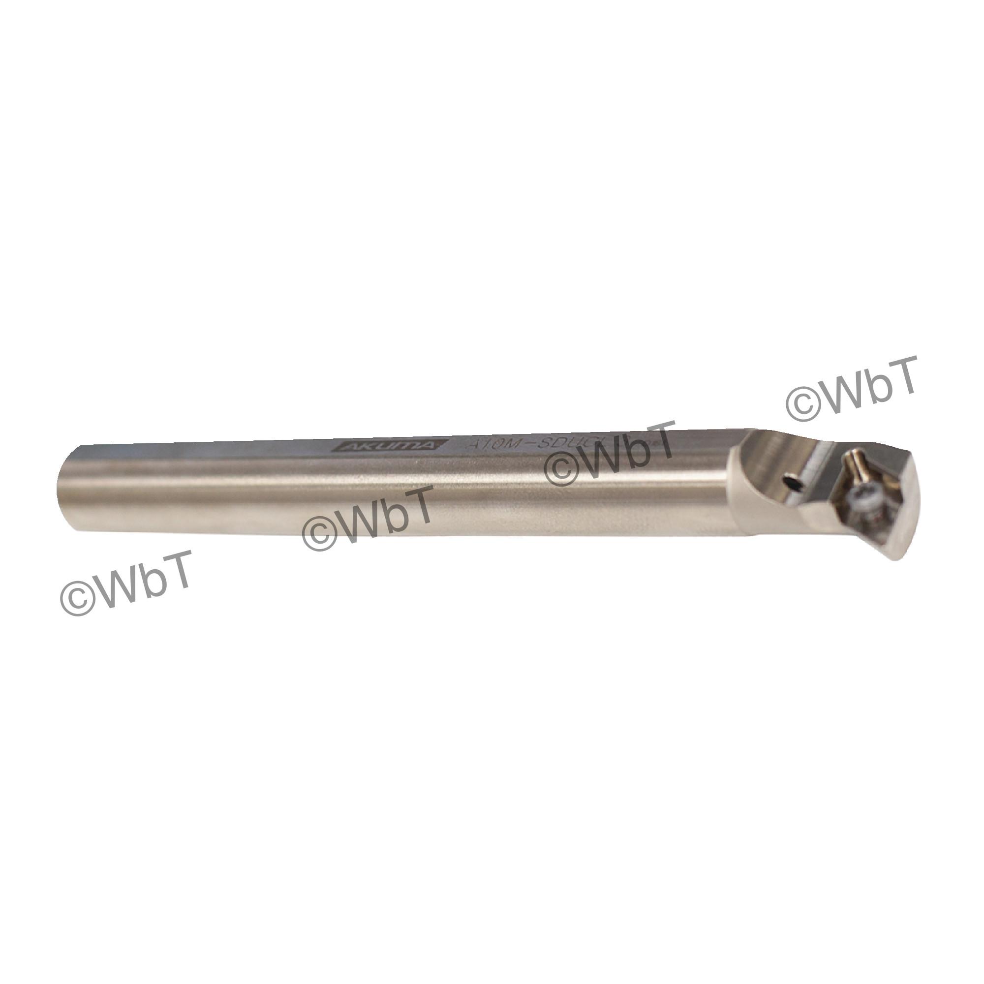 """AKUMA - A10M-SDUCL-3 / Steel Boring Bar / 5/8"""" Shank / DCMT3(2.5)_ / Cooalnt Thru / Left Hand"""