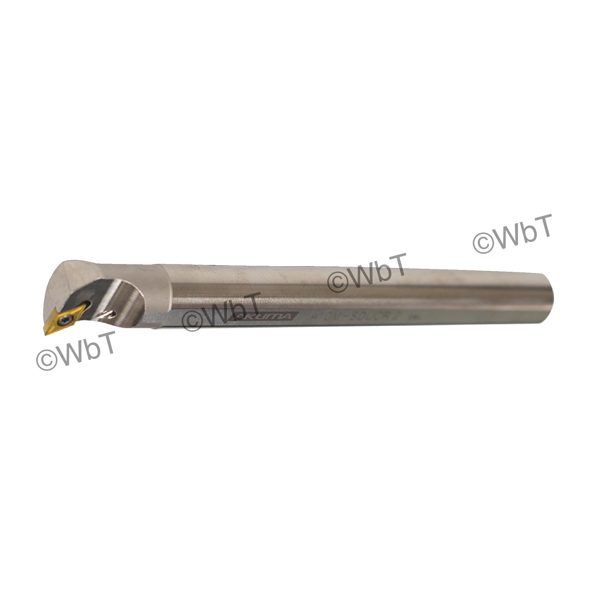 """AKUMA - A10M-SDUCR-2 / Steel Boring Bar / 5/8"""" Shank / DCMT2(1.5)_ / Cooalnt Thru / Right Hand"""