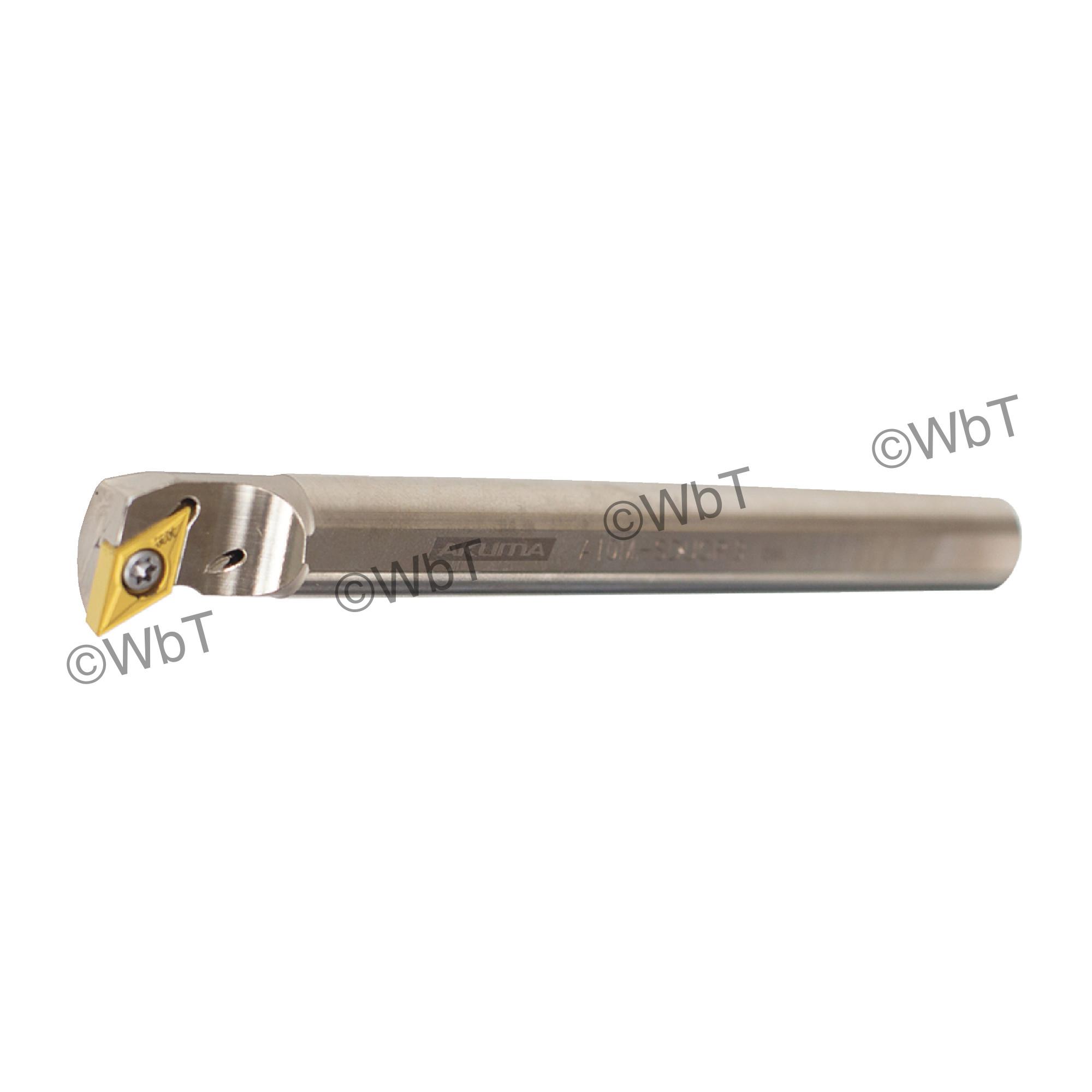 """AKUMA - A10M-SDUCR-3 / Steel Boring Bar / 5/8"""" Shank / DCMT3(2.5)_ / Cooalnt Thru / Right Hand"""