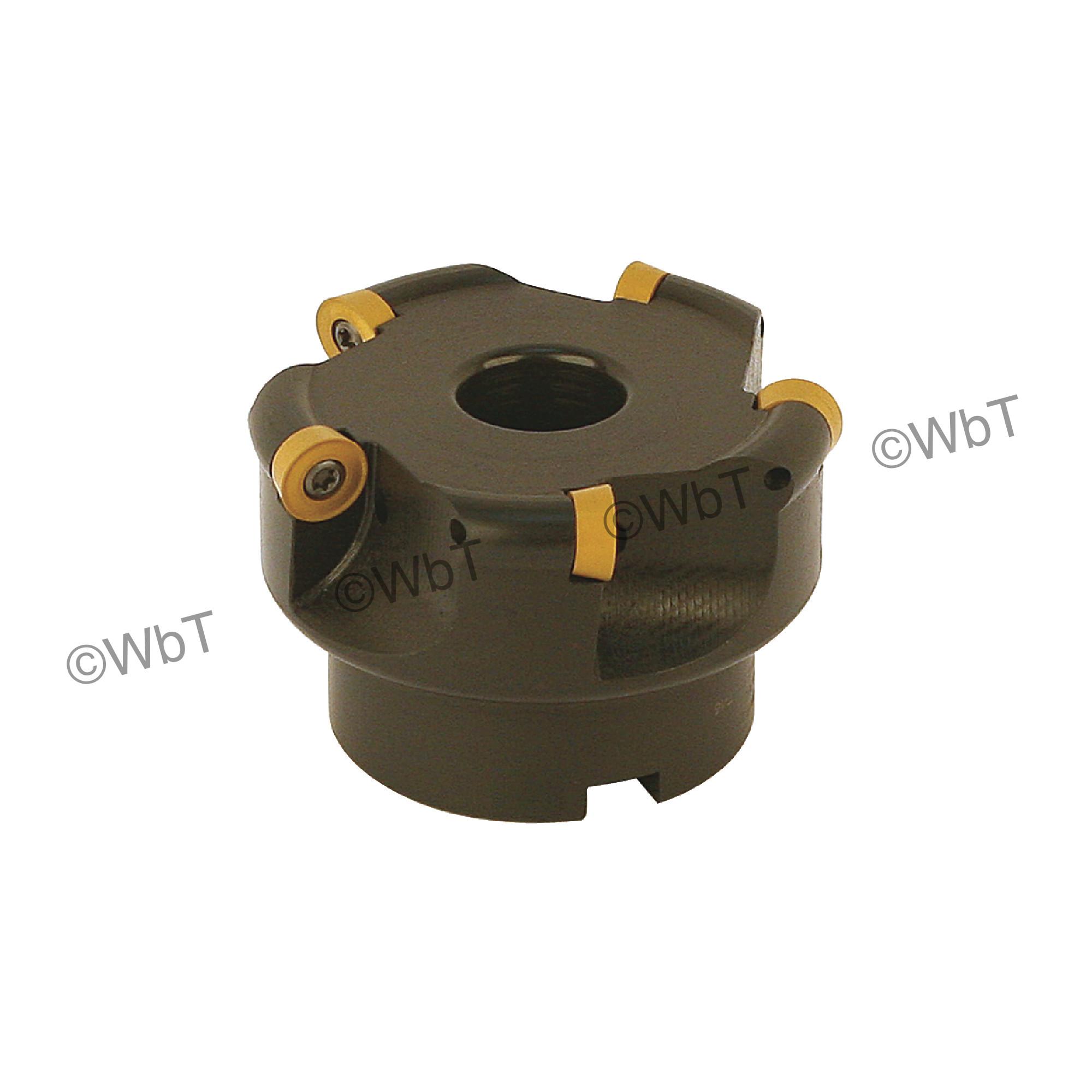 "AKUMA - 3.000"" Face Mill Set / Includes: (1) RPC.43.300R-5 (3.0""ø) & (10) RPMT1204M0S-M1 CM30P Coated Inserts / R"
