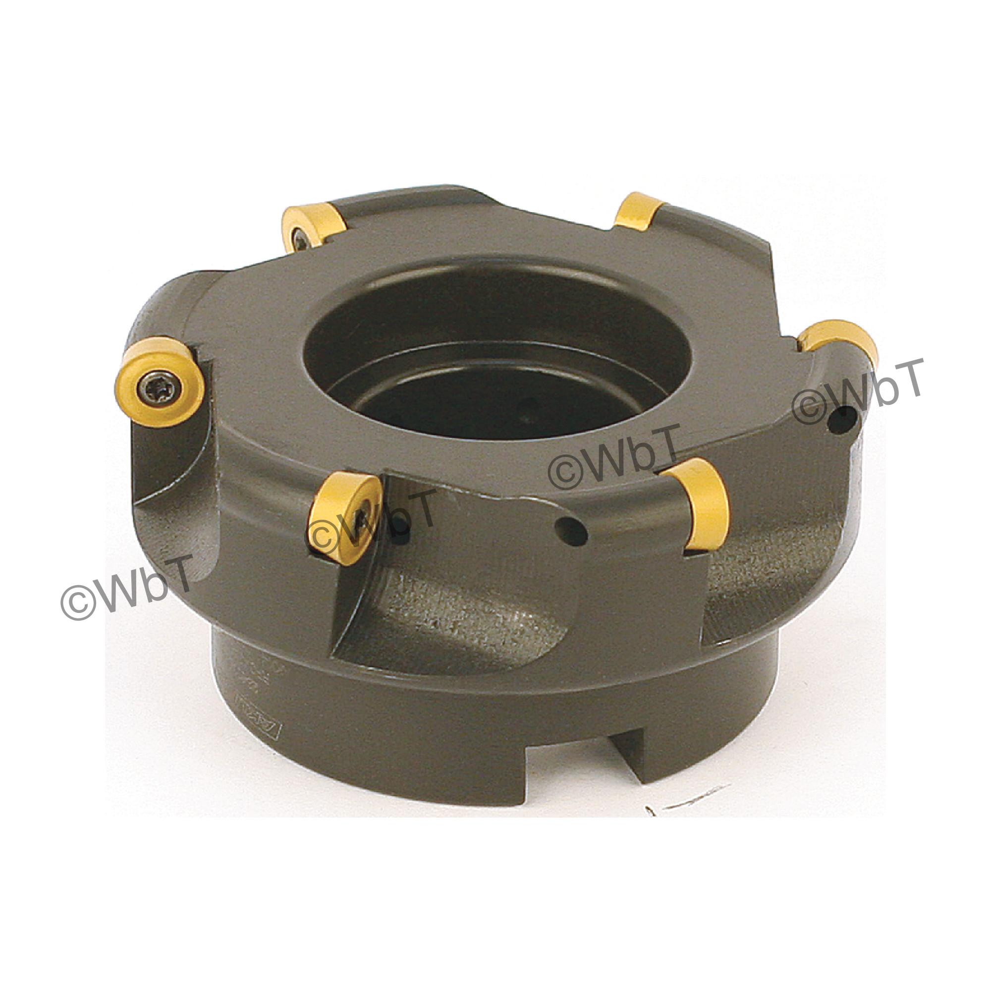 "AKUMA - 4.000"" Face Mill Set / Includes: (1) RPC.43.400R-6 (3.0""ø) & (10) RPMT1204M0S-M1 CM30P Coated Inserts / R"