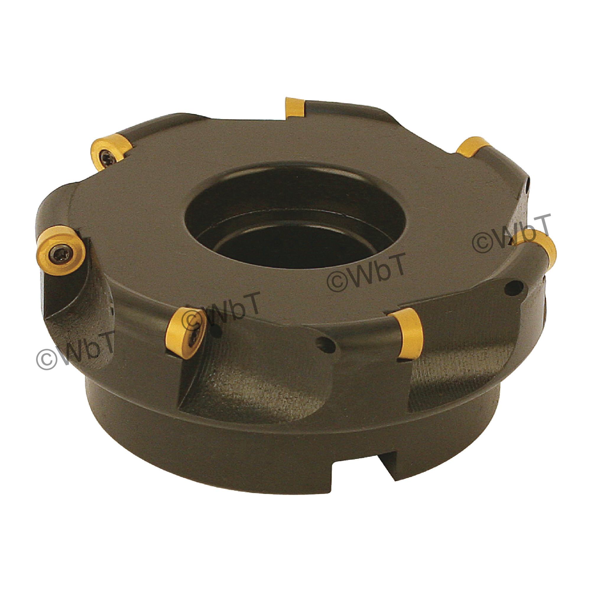 "AKUMA - 5.000"" Face Mill Set / Includes: (1) RPC.43.500R-7 (5.0""ø) & (10) RPMT1204M0S-M1 CM30P Coated Inserts / R"
