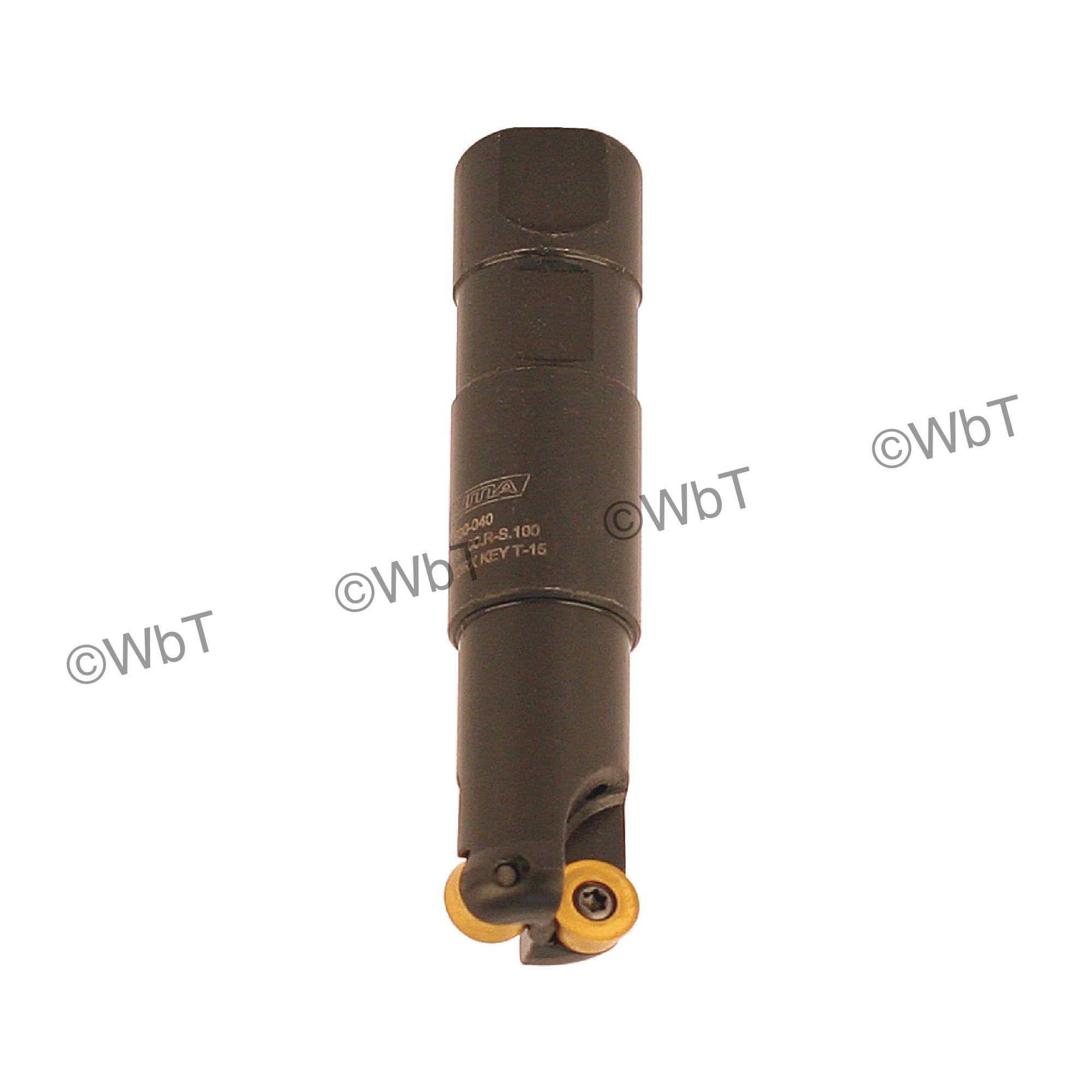 "AKUMA - 1.000"" Endmill Set / Includes: (1) RPS.43.100.R-S.100 (1.0""ø) & (10) RPMT1204M0S-M1 CM30P Coated Inserts"