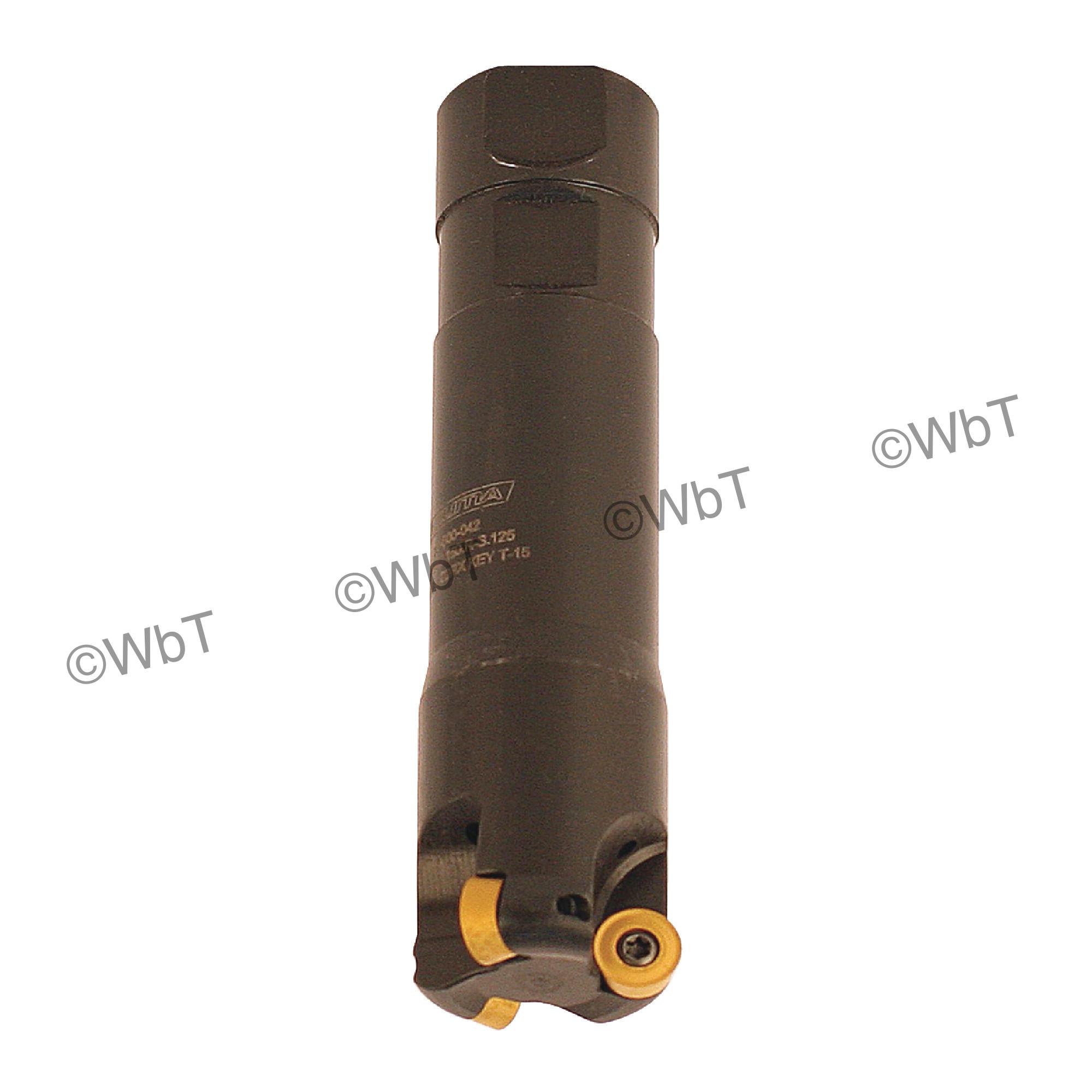 "AKUMA - 1.500"" Endmill Set / Includes: (1) RPS.43.150.R-S.125 (1.5""ø) & (10) RPMT1204M0S-M1 CM30P Coated Inserts"