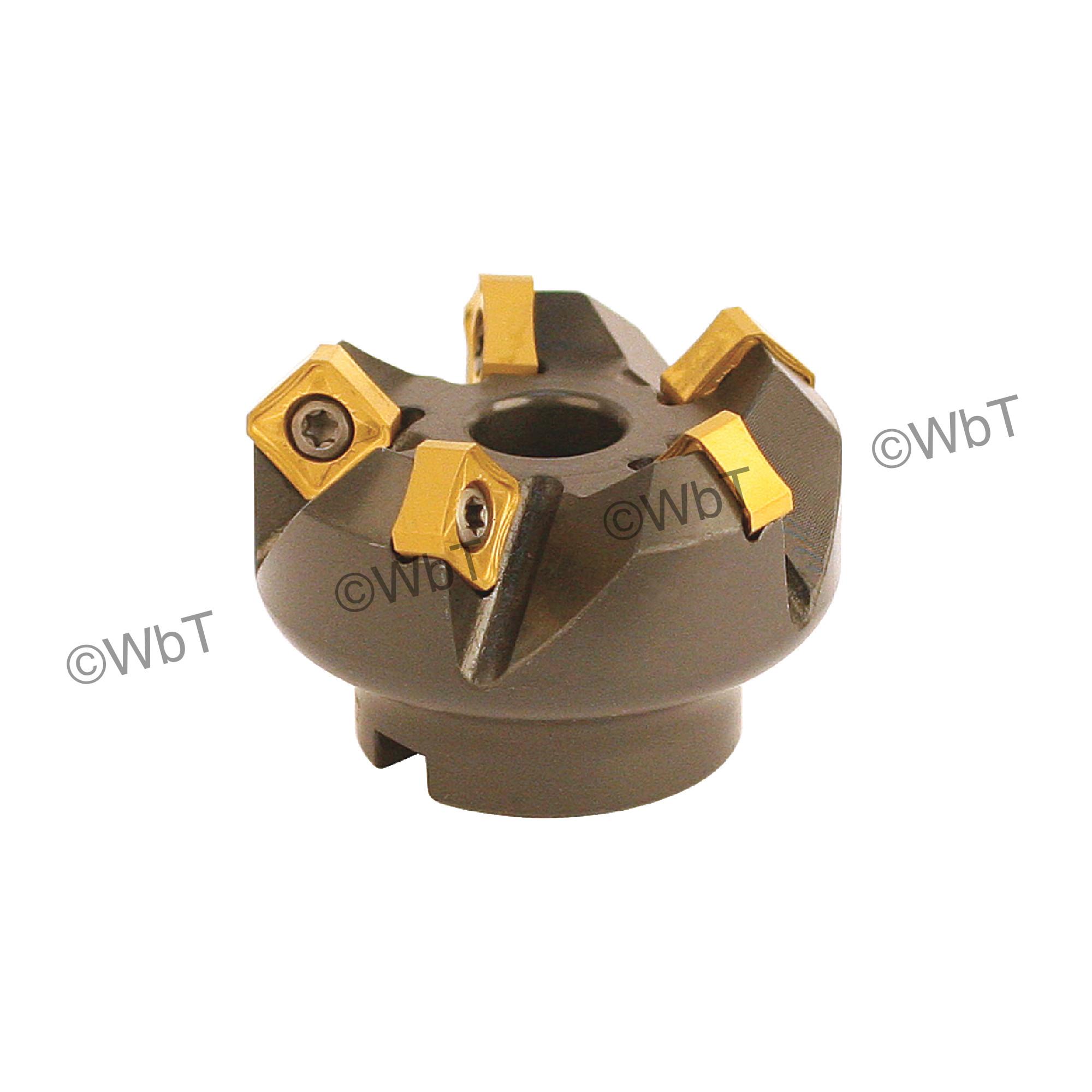 "AKUMA - 2.000"" - 45° Face Mill Set / Includes: (1) SNAC.12.200R-5 (2.0"" ø) & (10) SNMX1205ANN-M1 CM30P Coate"