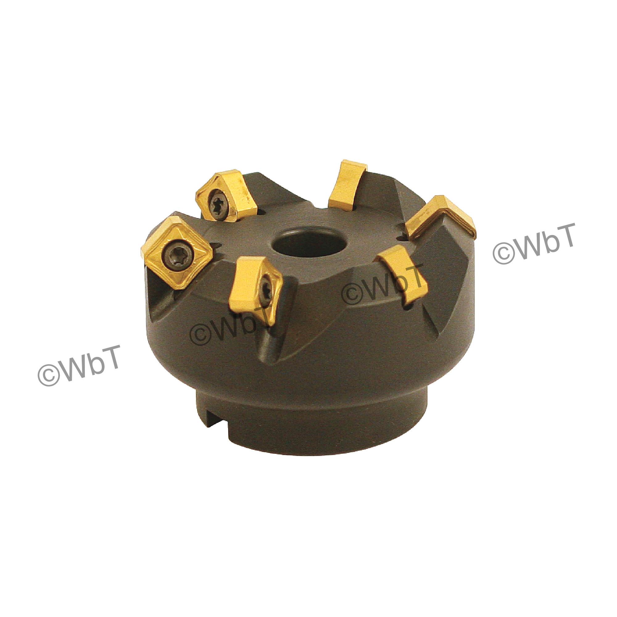 "AKUMA - 2.500"" - 45° Face Mill Set / Includes: (1) SNAC.12.250R-6 (2.5"" ø) & (10) SNMX1205ANN-M1 CM30P Coate"