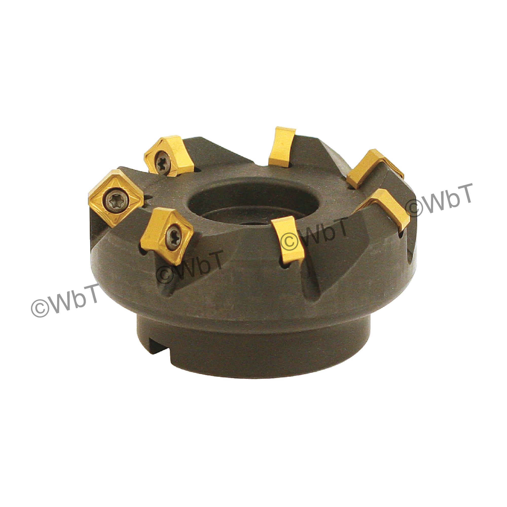 "AKUMA - 3.000"" - 45° Face Mill Set / Includes: (1) SNAC.12.300R-7 (3.0"" ø) & (10) SNMX1205ANN-M1 CM30P Coate"