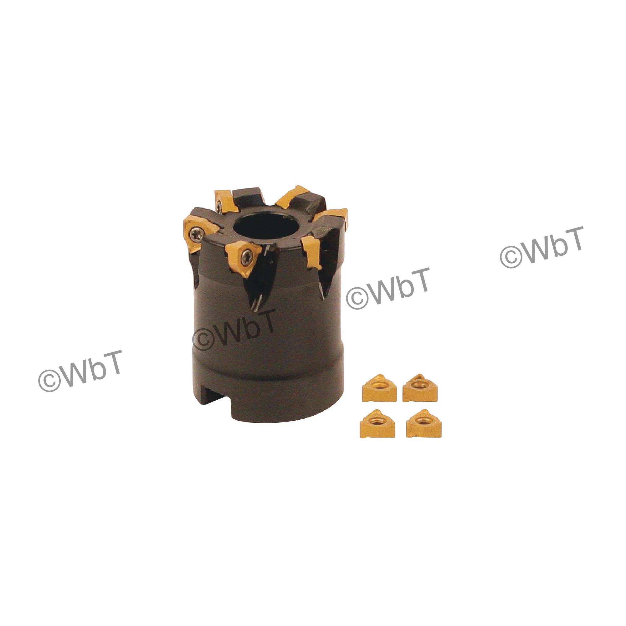 """AKUMA - 1.500"""" Face Mill Set / Includes: (1) XNPC.22.150R-6 (1.5"""" ø) & (10) XNEX221R-M1 CM30P Coated Inserts / Ri"""